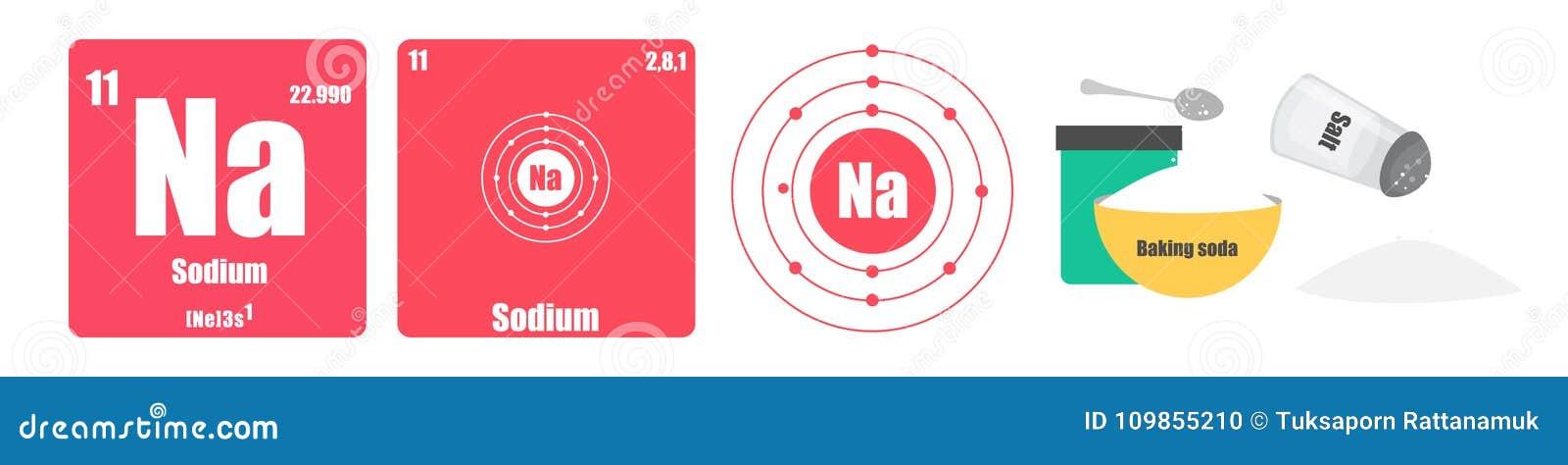 la tabla peridica de grupo del elemento i el lcali metals el na del sodio