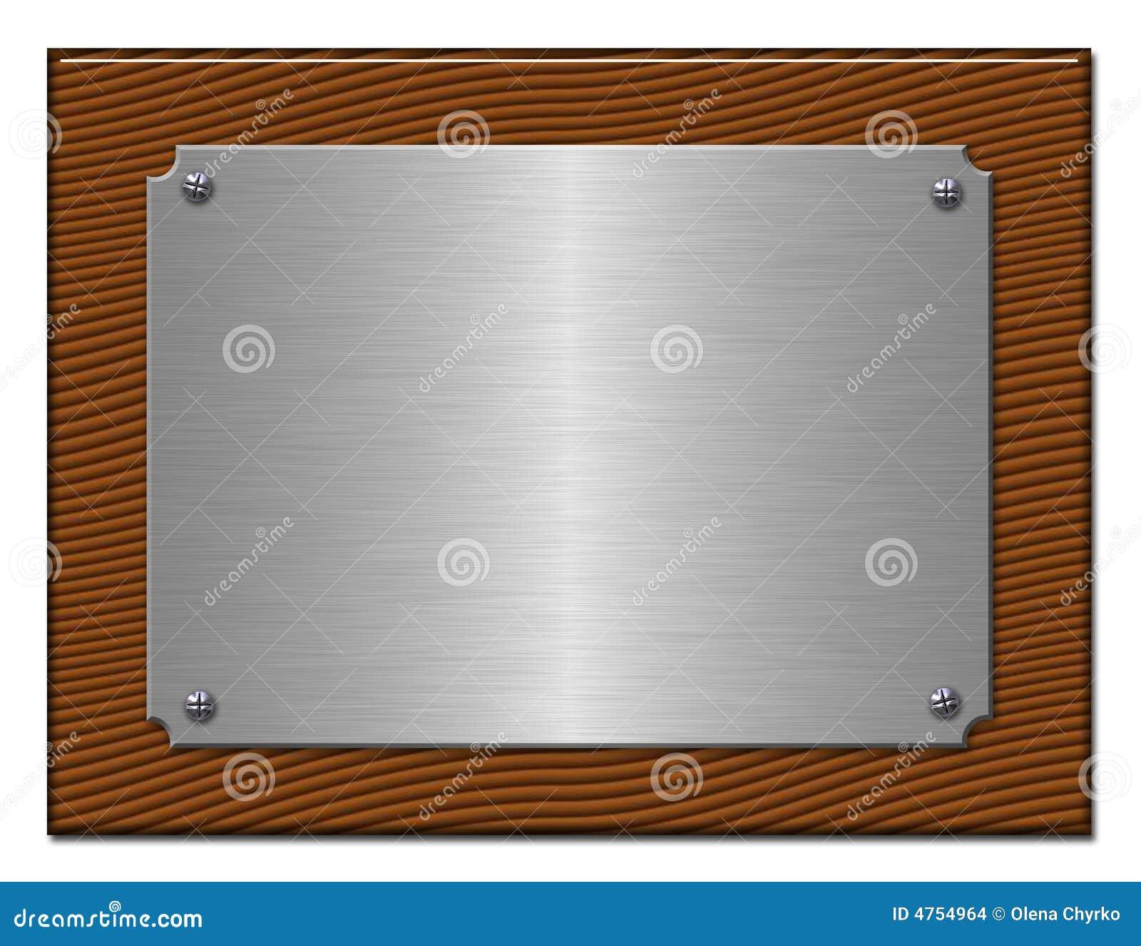 La tablette du métal argenté.