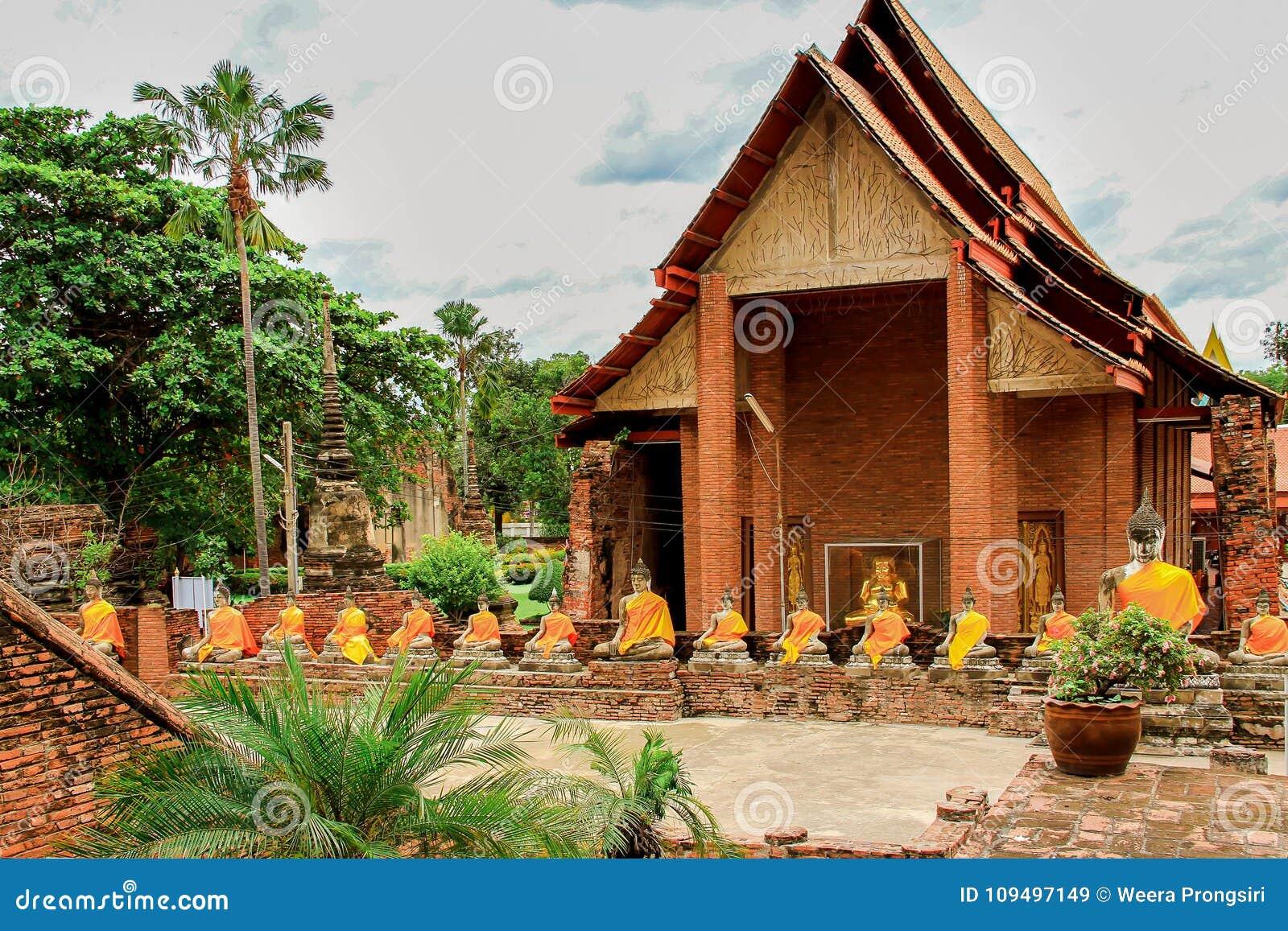 La Tailandia, Asia, Ayuthaya, Wat Yai Chai Mongkhon, Asia Orientale