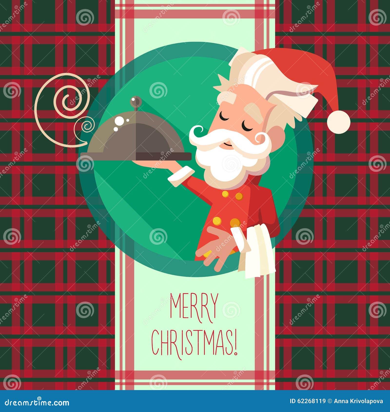 La Tarjeta Con El Duende De La Historieta Para La Navidad Y