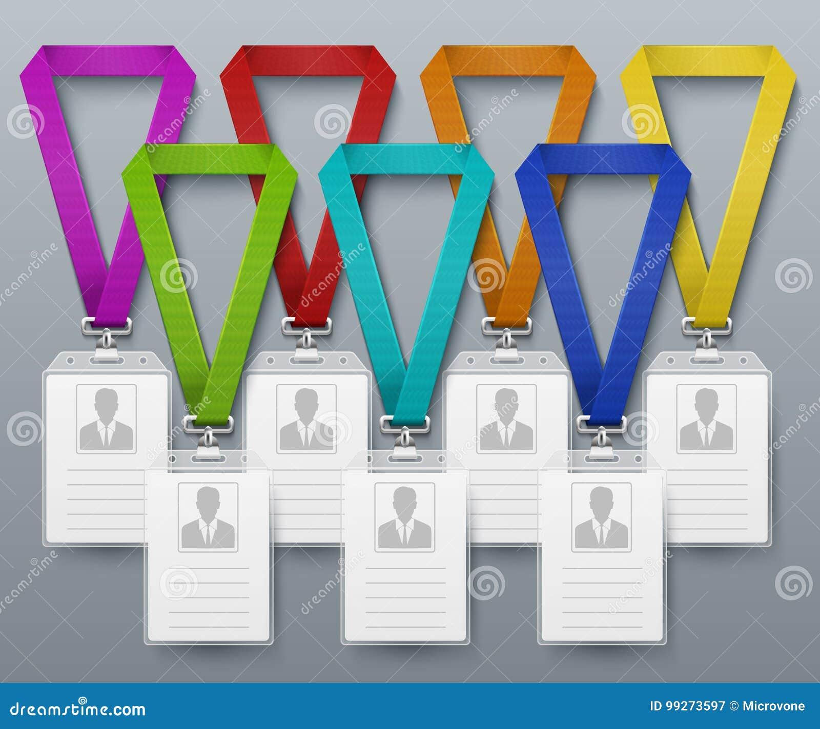 La Tarjeta De La Identificación De La Oficina Badges La Plantilla ...