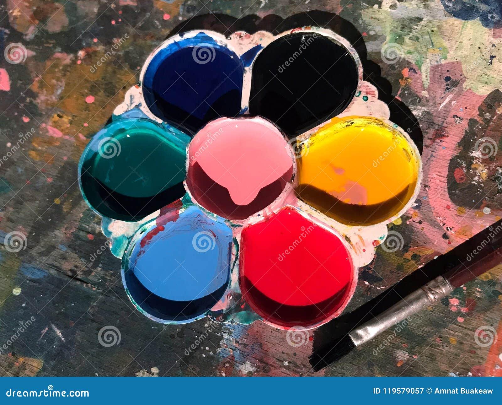 La tavolozza, tavolozza del ` s dei bambini, colore della tavolozza per arte di verniciatura immagina dei bambini