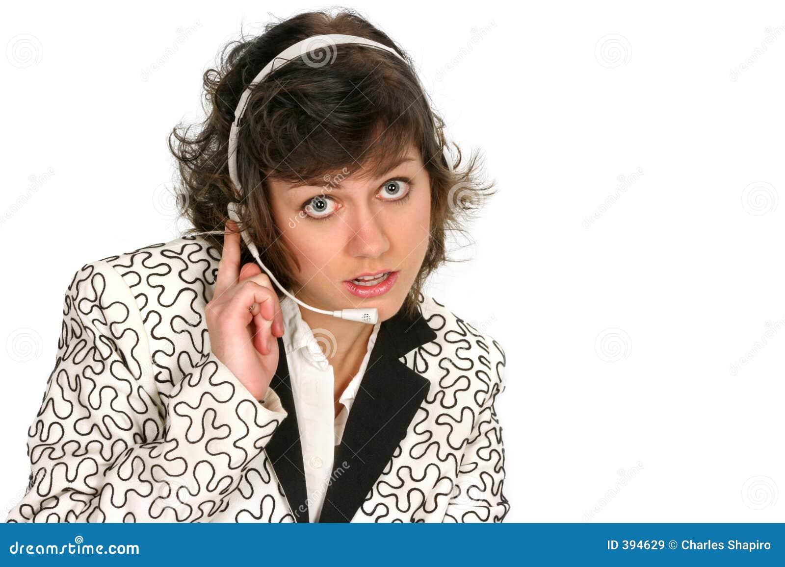 La technologie de service à la clientèle écoute au-dessus de son écouteur