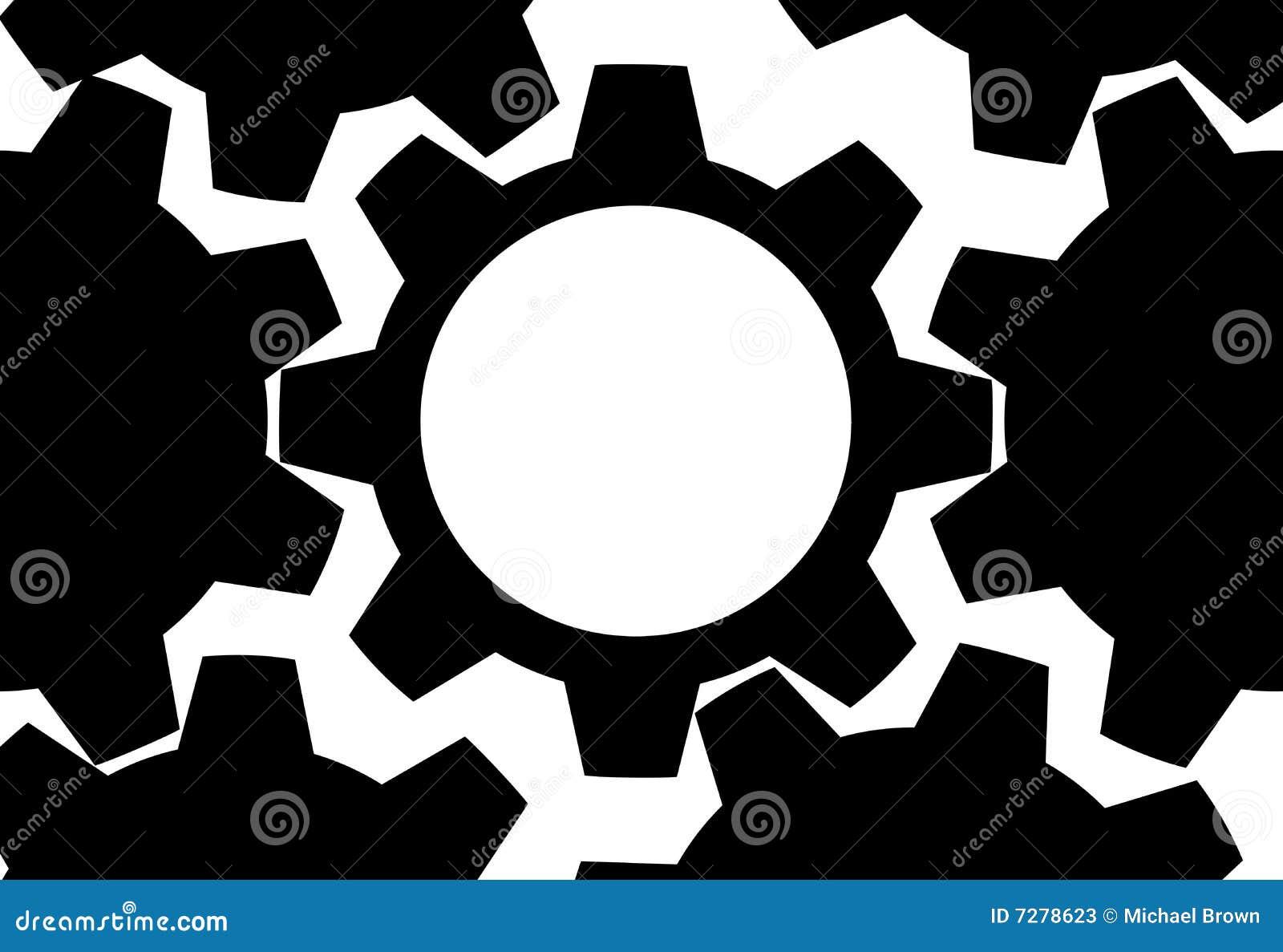 La tecnología del ENGRANAJE engrana el espacio de la copia del fondo