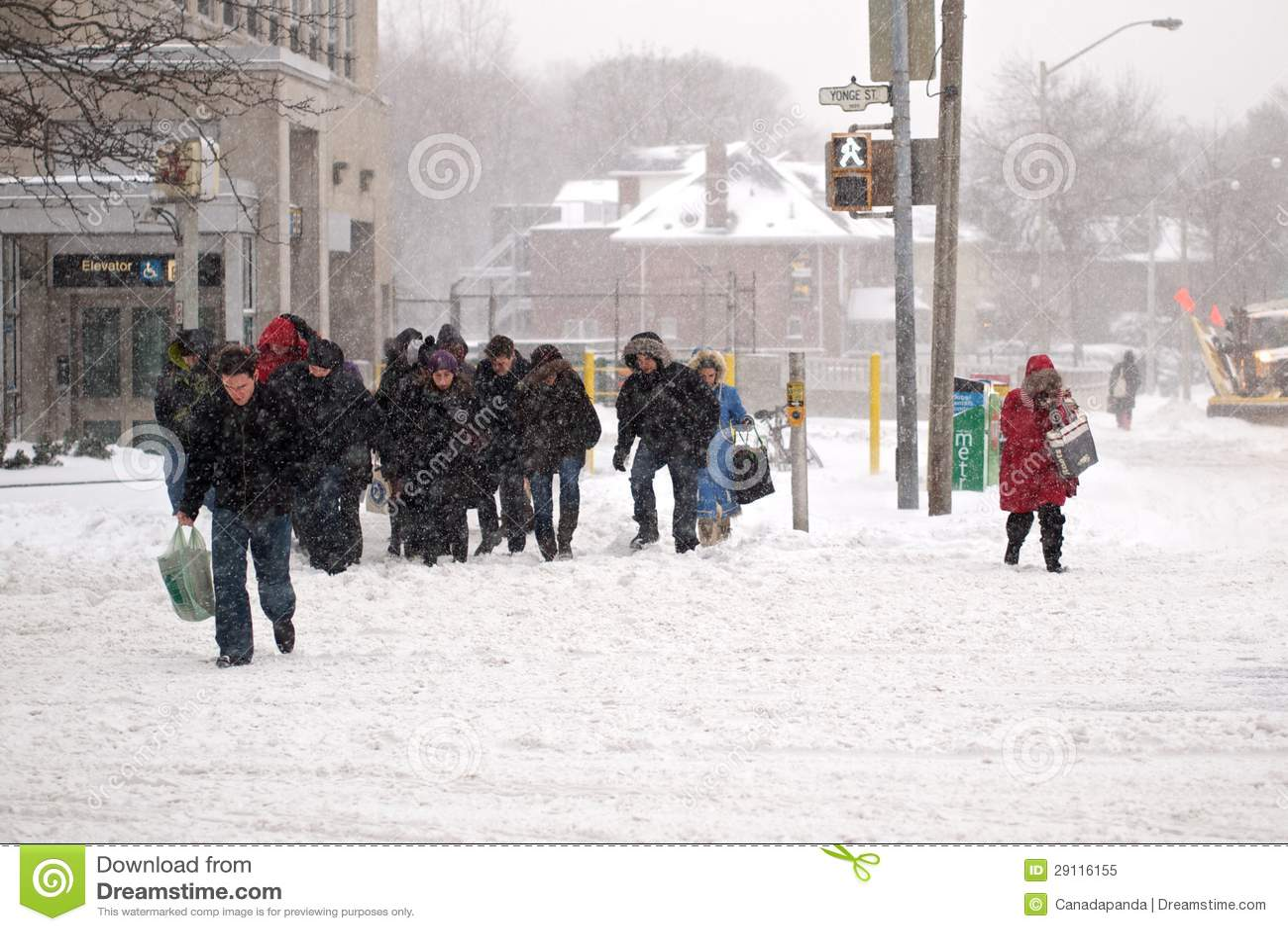 La tempête de l hiver heurte Toronto
