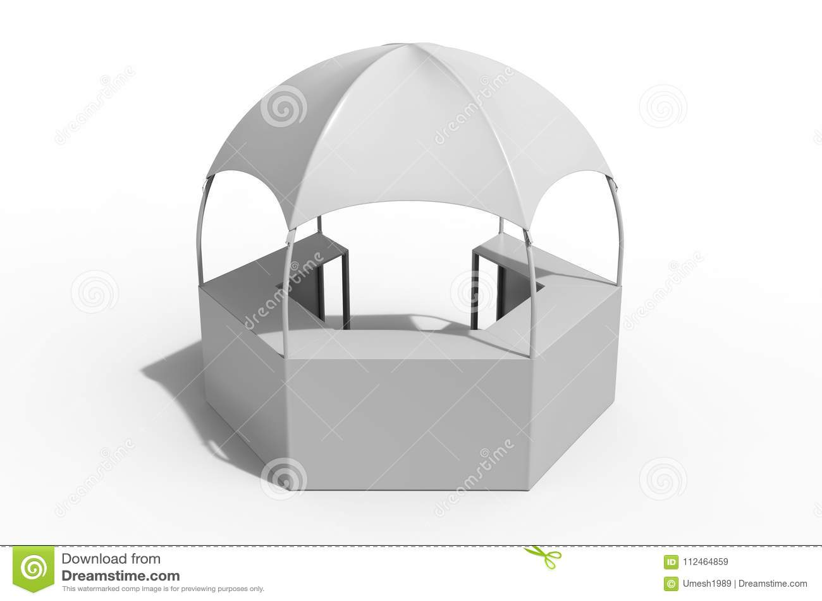 La tente hexagonale d auvent de pavillon de salon commercial d affichage de kiosque fonctionnel multi extérieur de dôme avec les