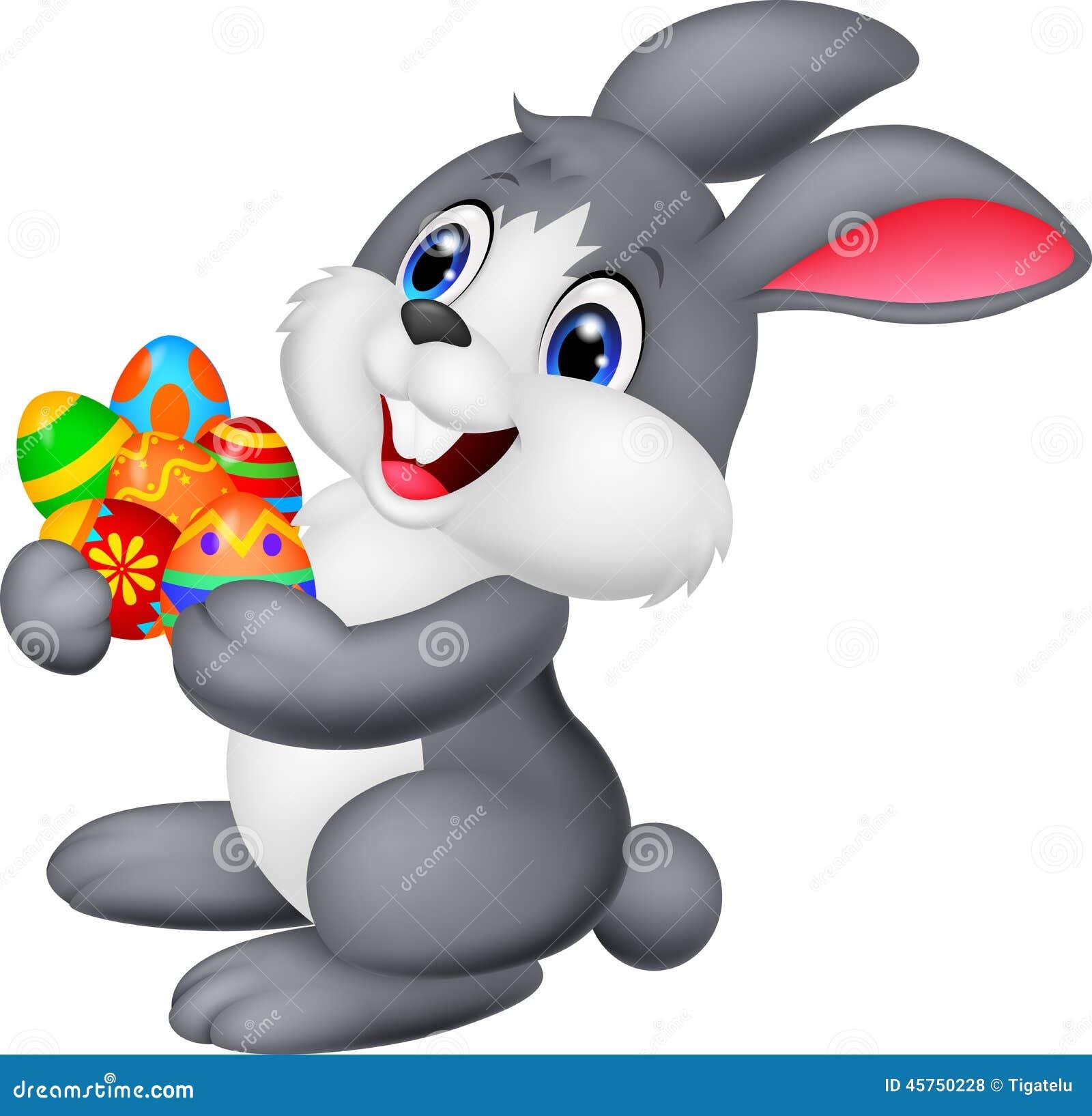 La tenuta del coniglietto del fumetto ha decorato l uovo