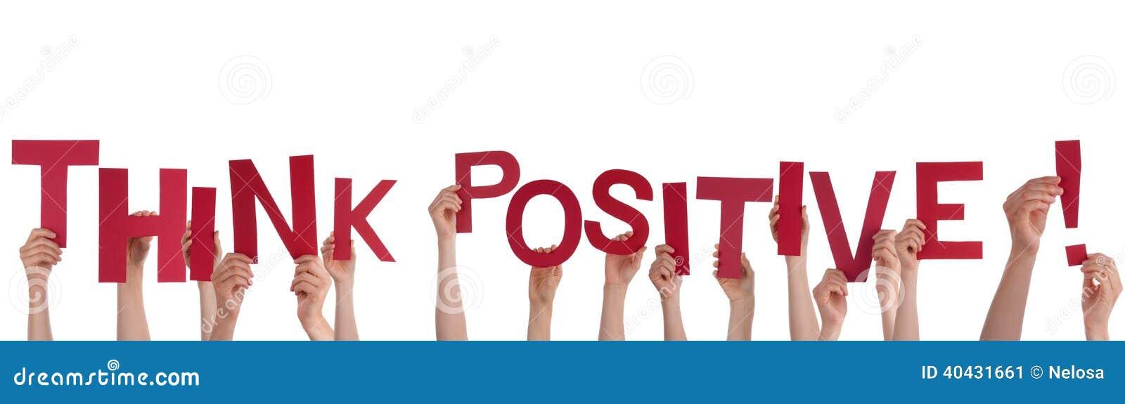 La tenuta delle mani pensa il positivo