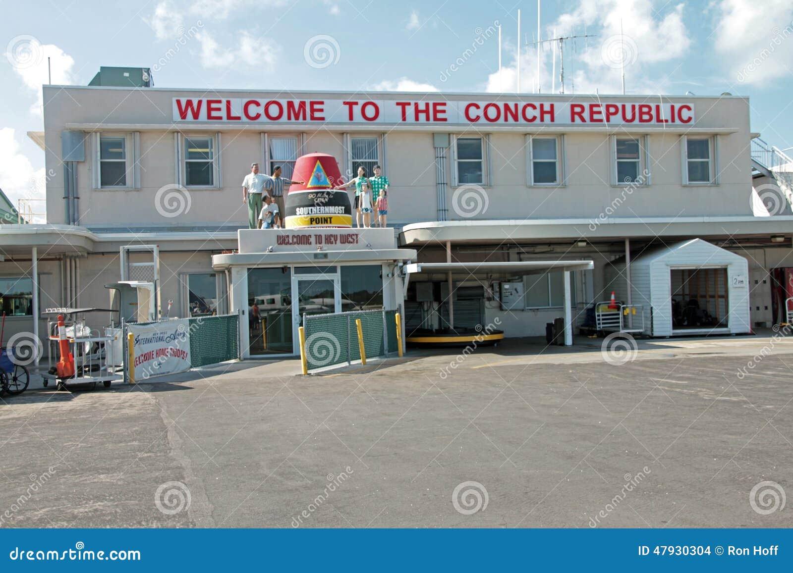La terminal de viajeros en el aeropuerto de Key West