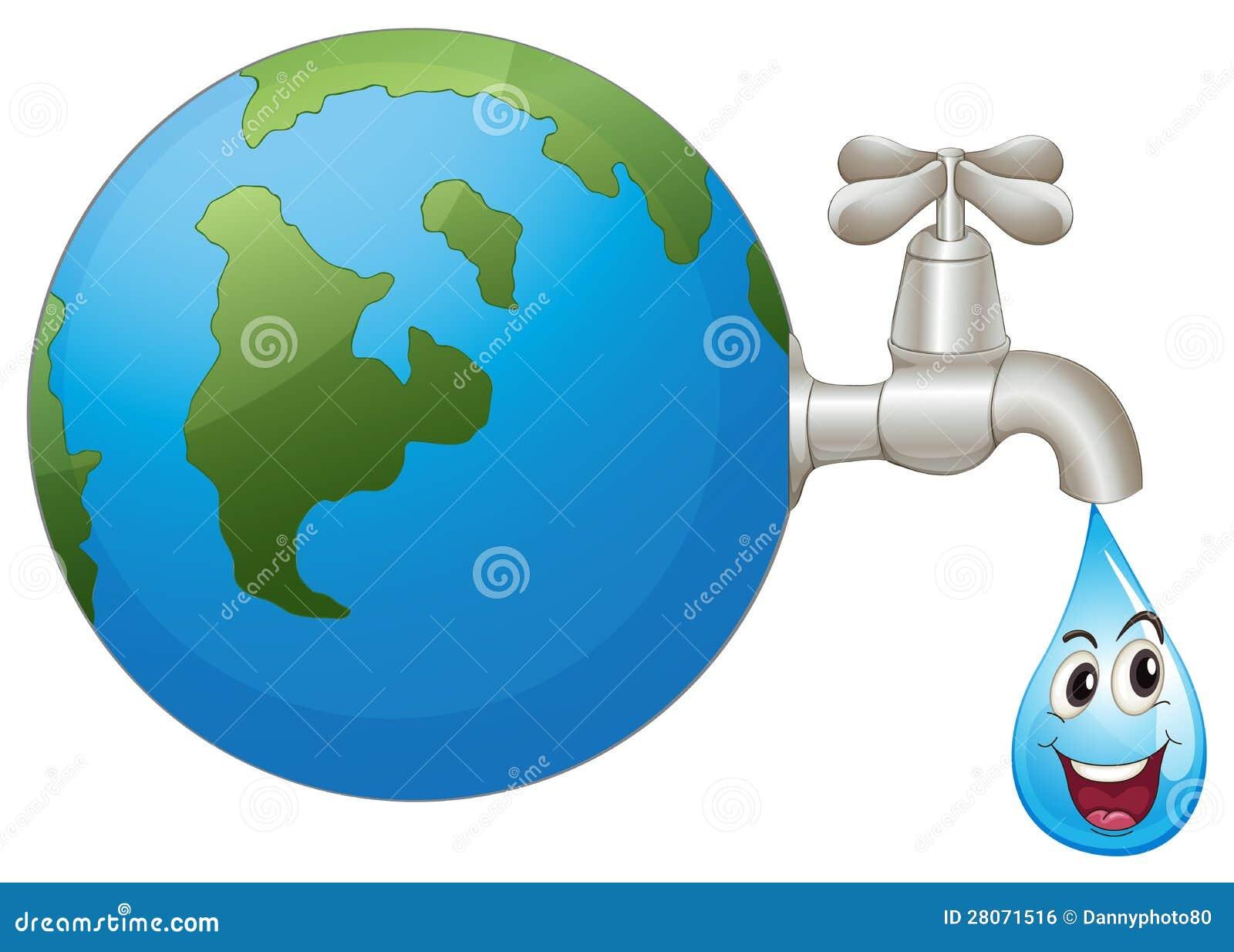 La Terra E Una Goccia Di Acqua Immagine Stock Libera Da