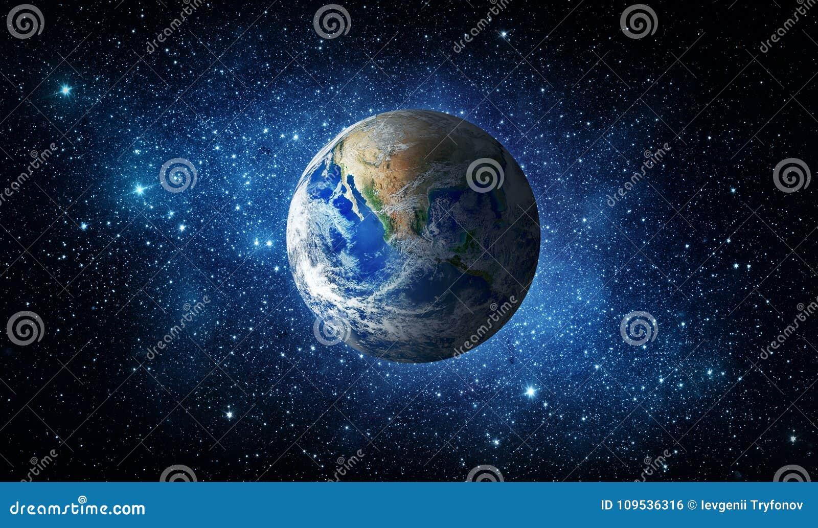 La terre, étoile et galaxie Fond d univers