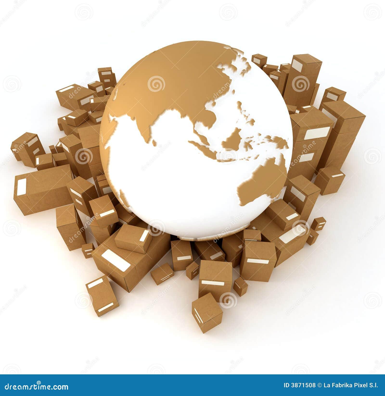 La terre Asie installée avec des modules