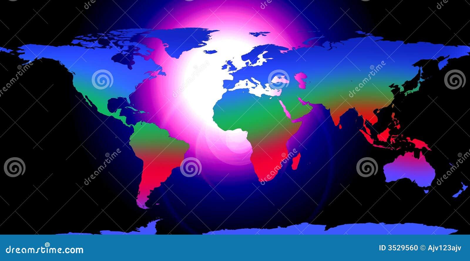 La terre de globe du monde