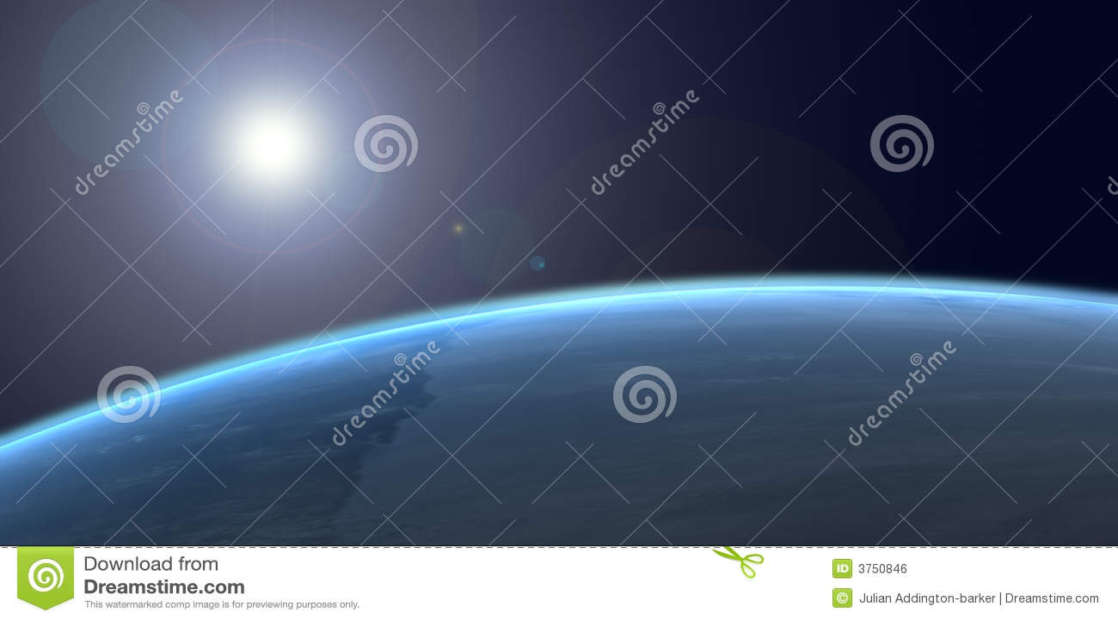 La terre de l espace