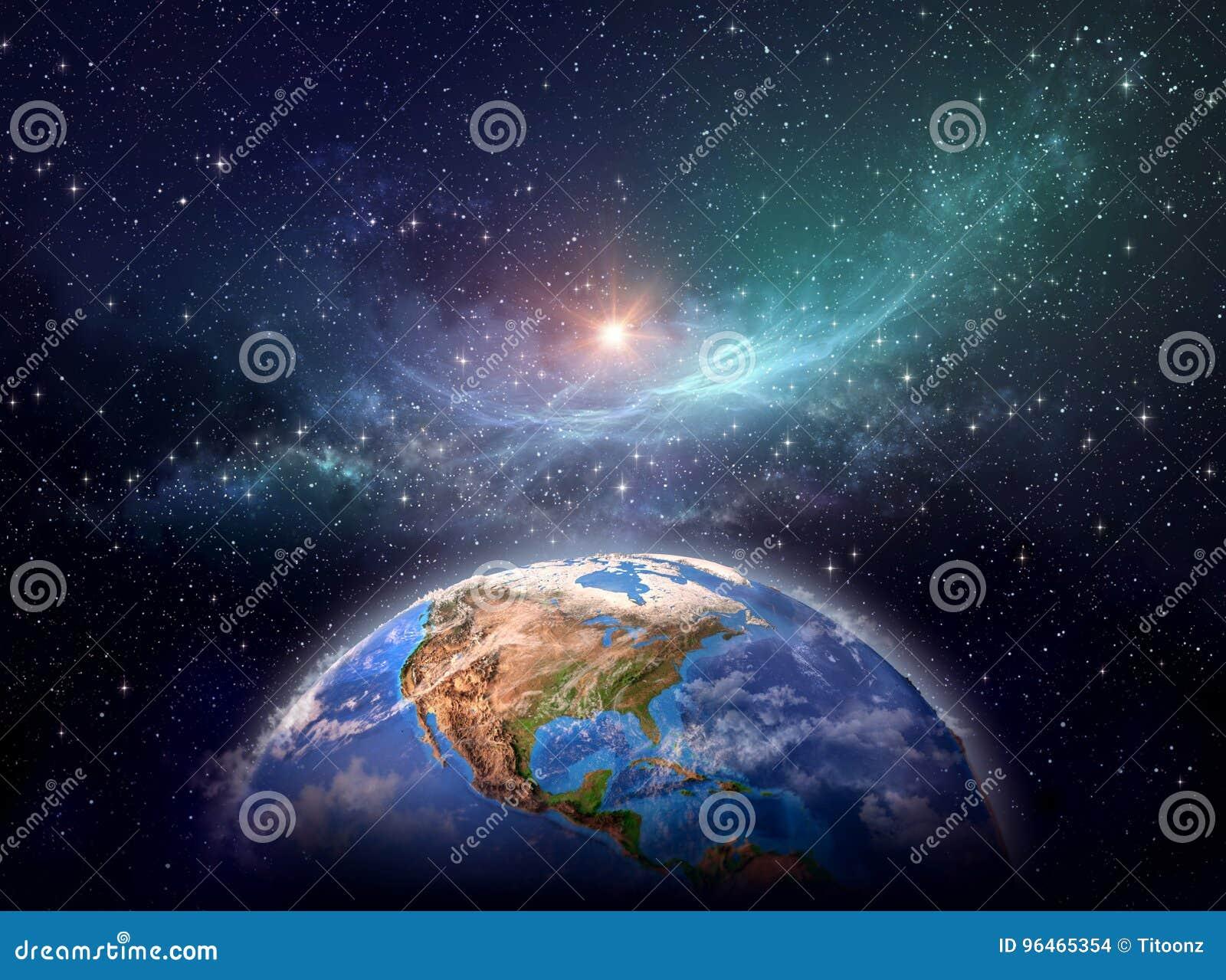 La terre de planète dans l espace cosmique