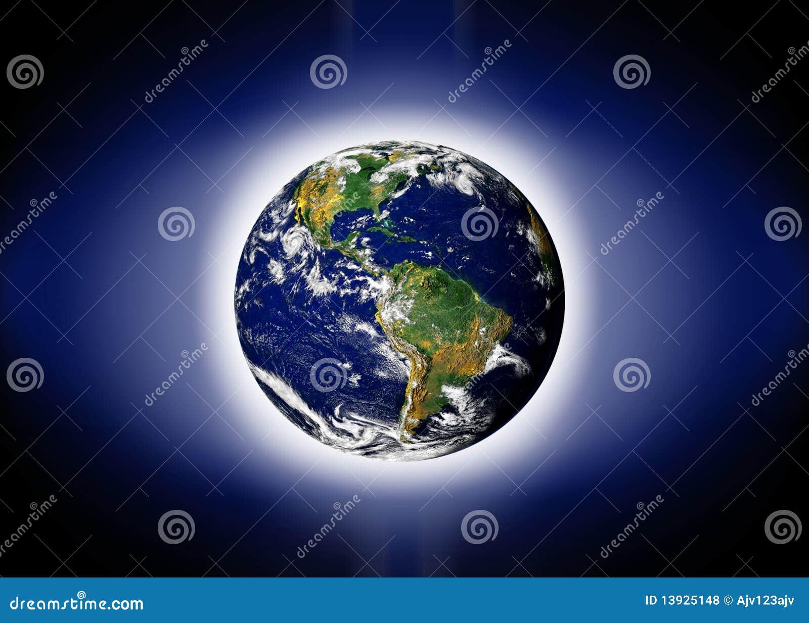 La terre de planète du monde