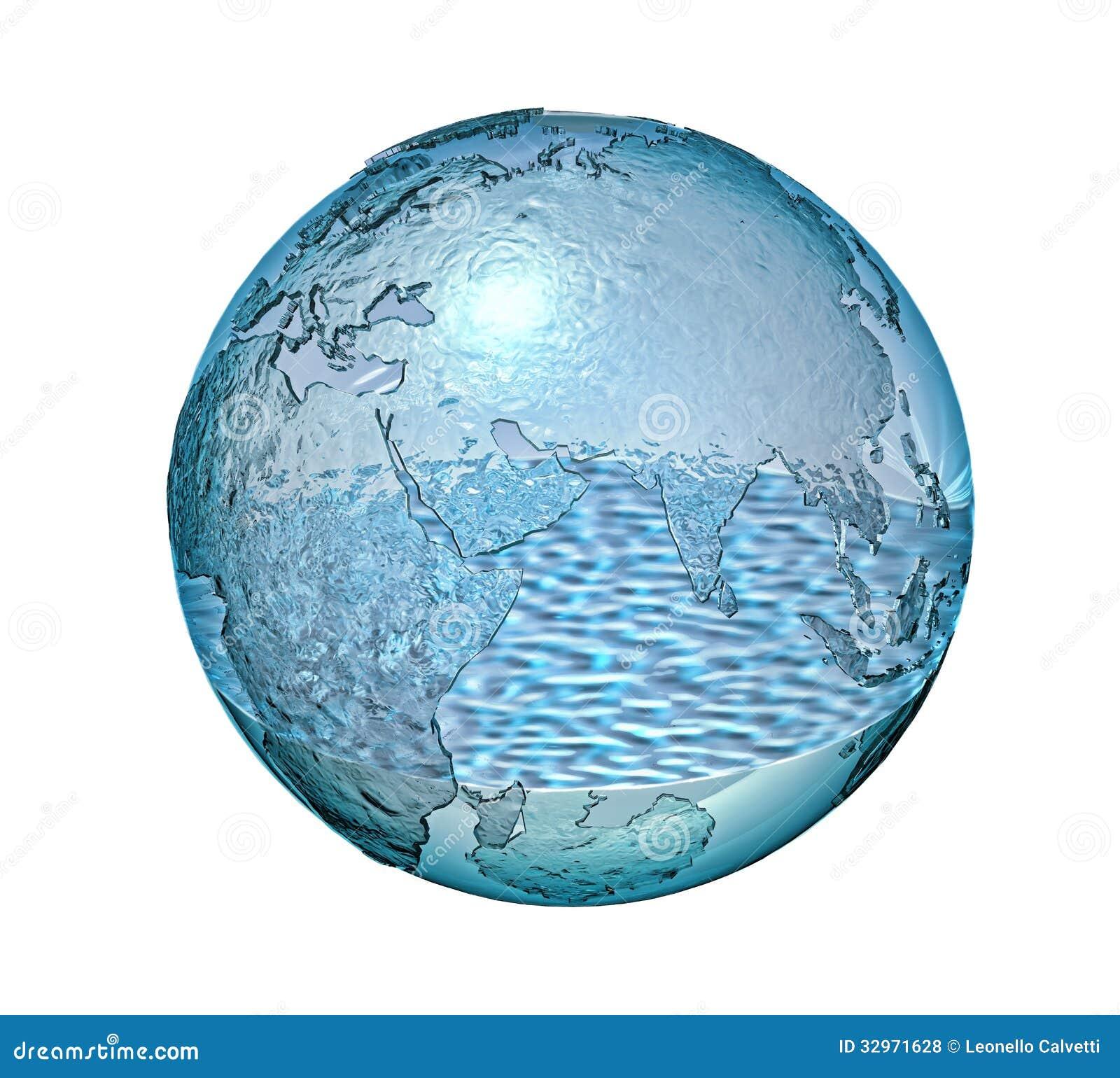 La terre de plan te faite de verre avec de l 39 eau certain for Interieur de la terre