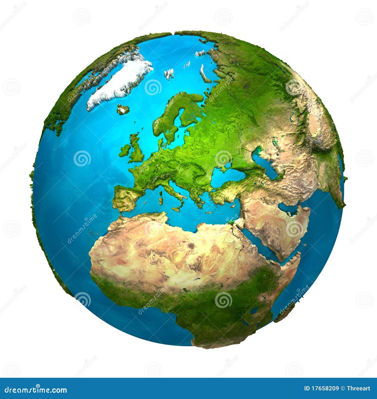 la terre de plan te l 39 europe illustration stock illustration du color global 17658209. Black Bedroom Furniture Sets. Home Design Ideas