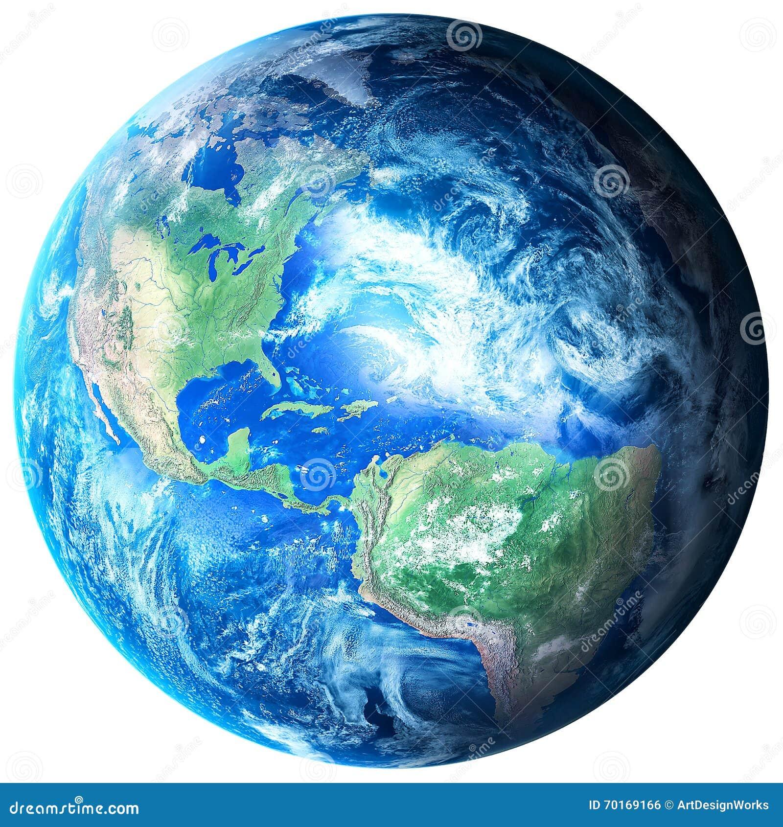 La terre de planète sur le fond transparent