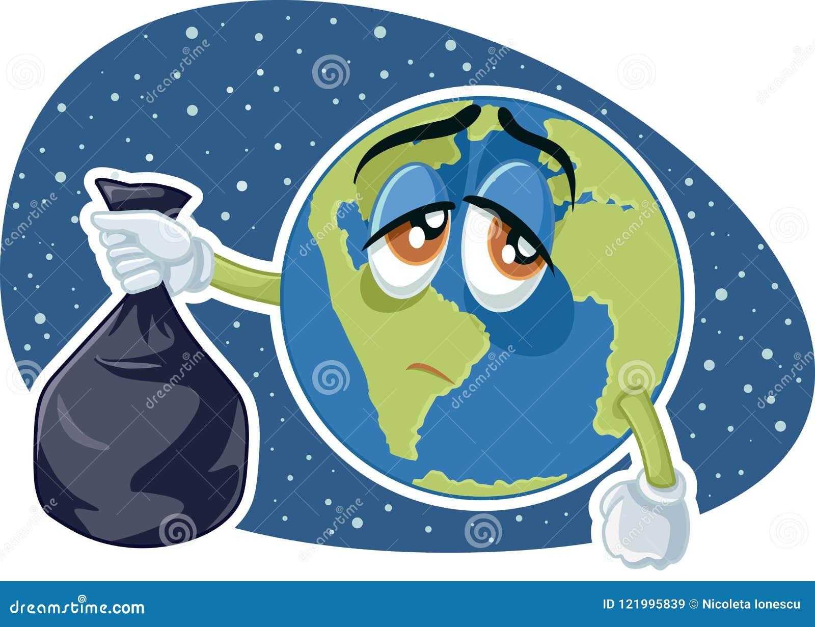 La Terre De Planète Tenant La Bande Dessinée En Plastique De