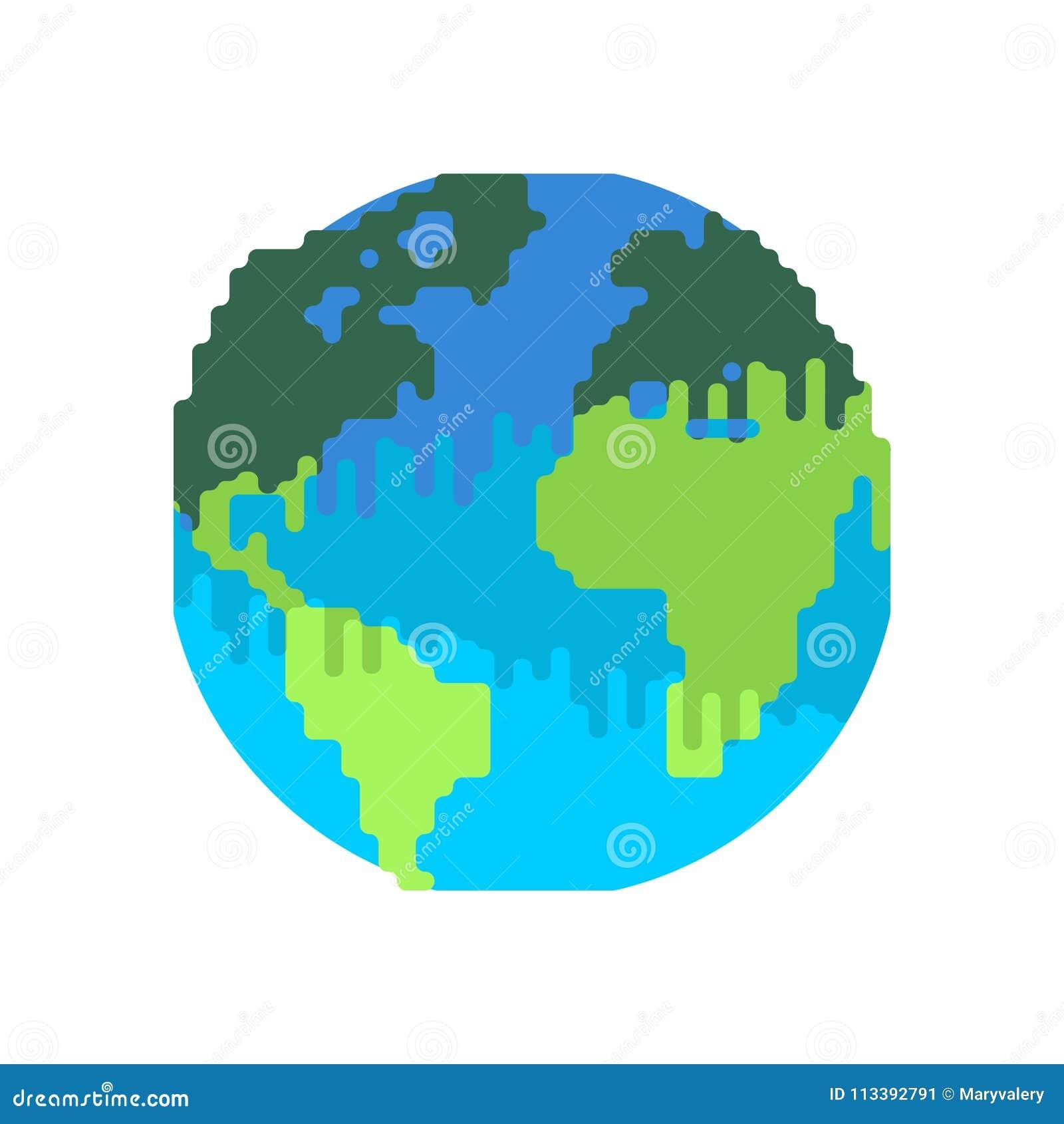 La Terre De Pollution Planète Noire Déchets Toxiques Po