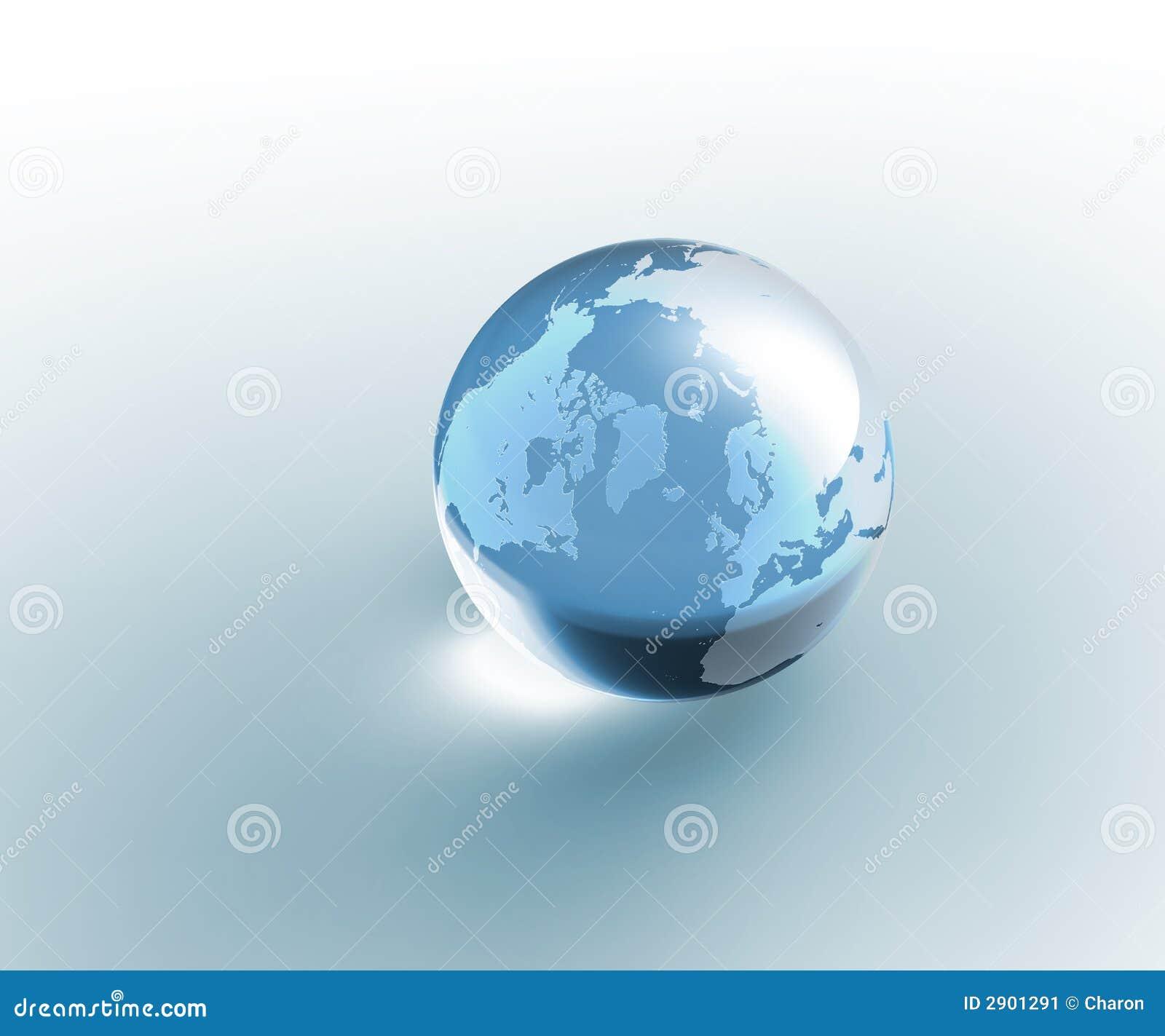 la terre en verre transparente de globe image stock. Black Bedroom Furniture Sets. Home Design Ideas