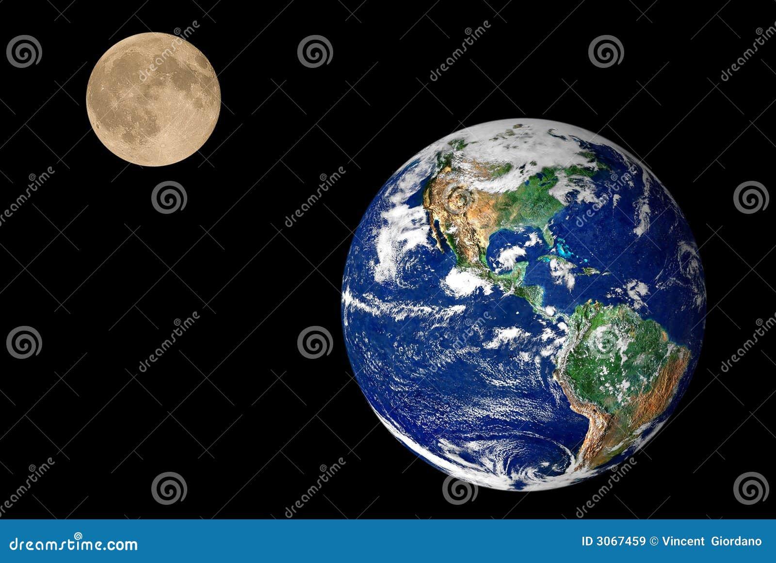 La terre et lune