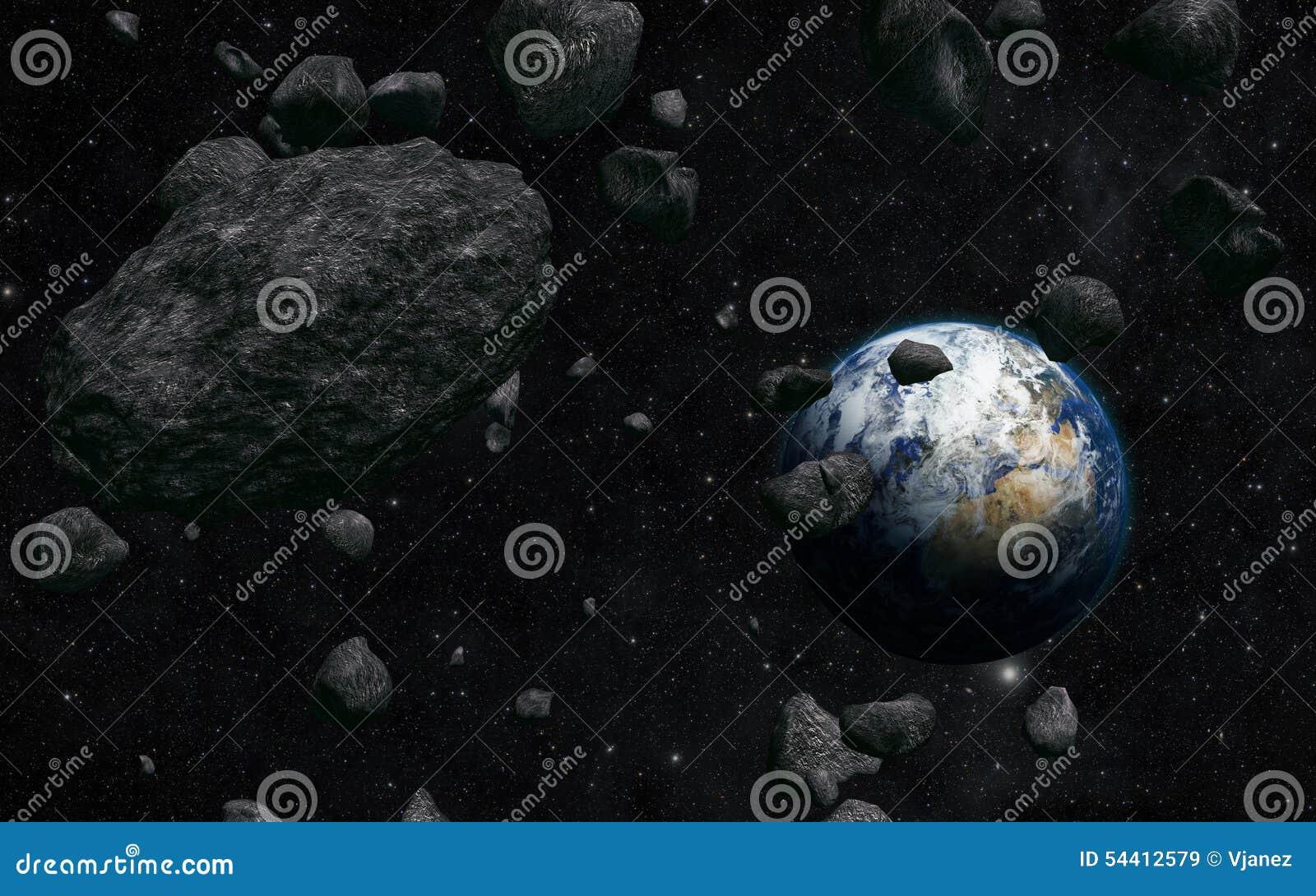 La terre et météorite