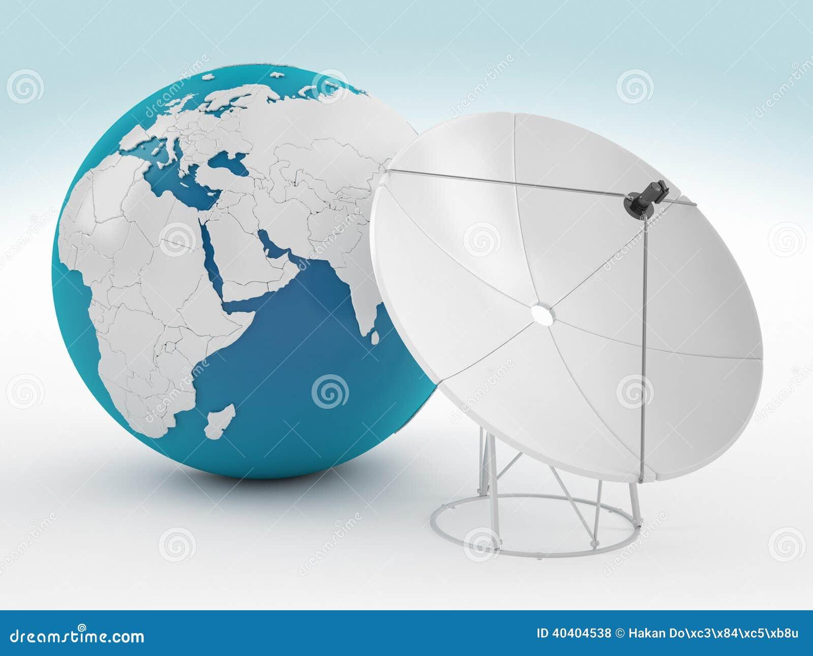 La terre et satellite