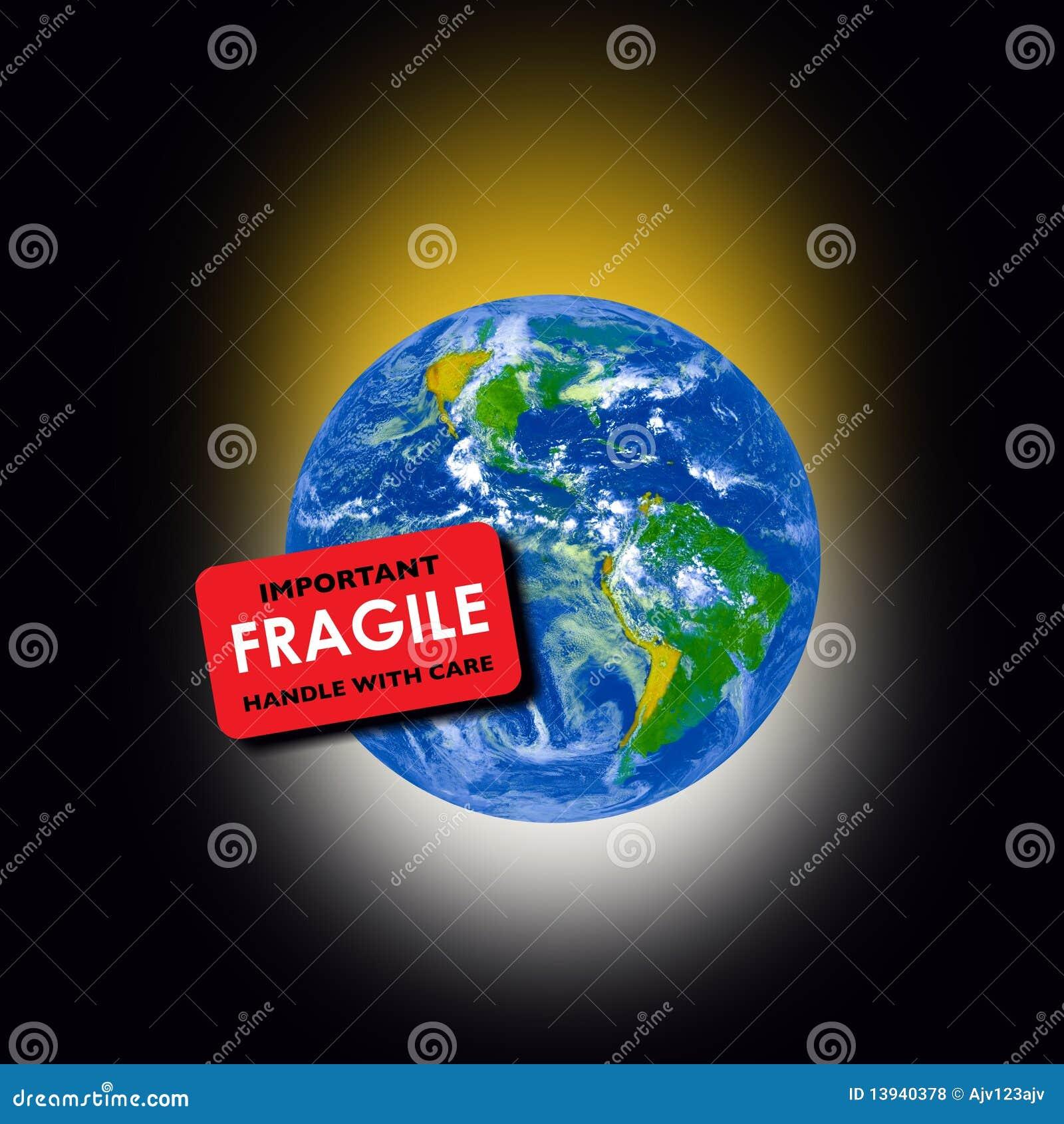 La terre fragile de planète