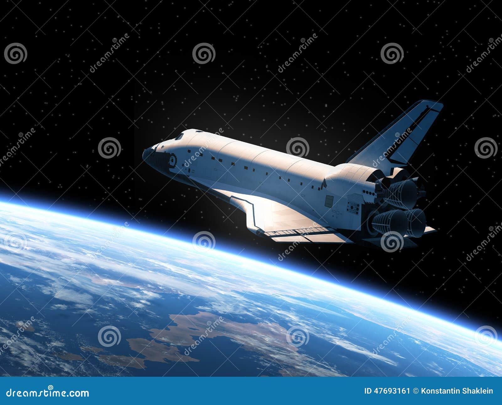 La terre orbitale de navette spatiale
