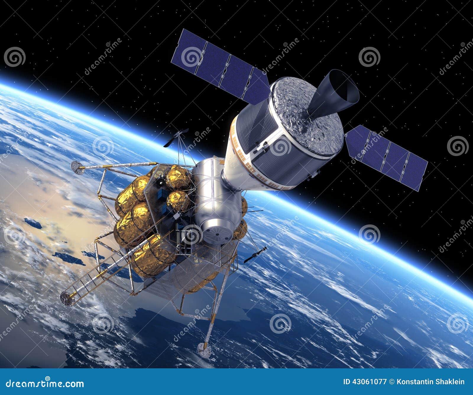 La terre orbitale de véhicule d exploration d équipage