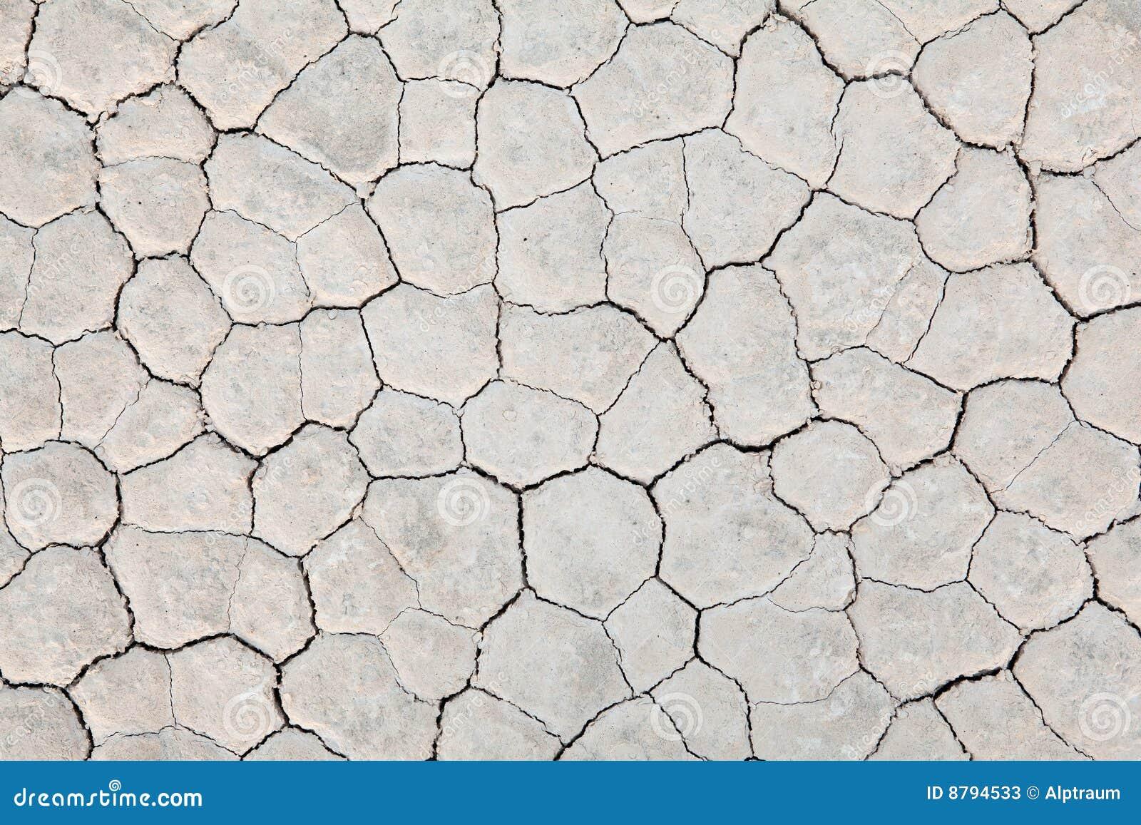 La terre sèche de fond