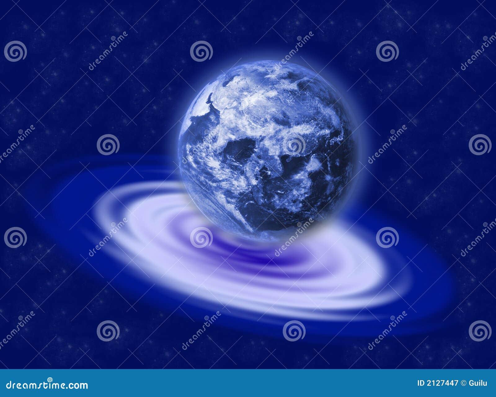 La terre sur l ondulation