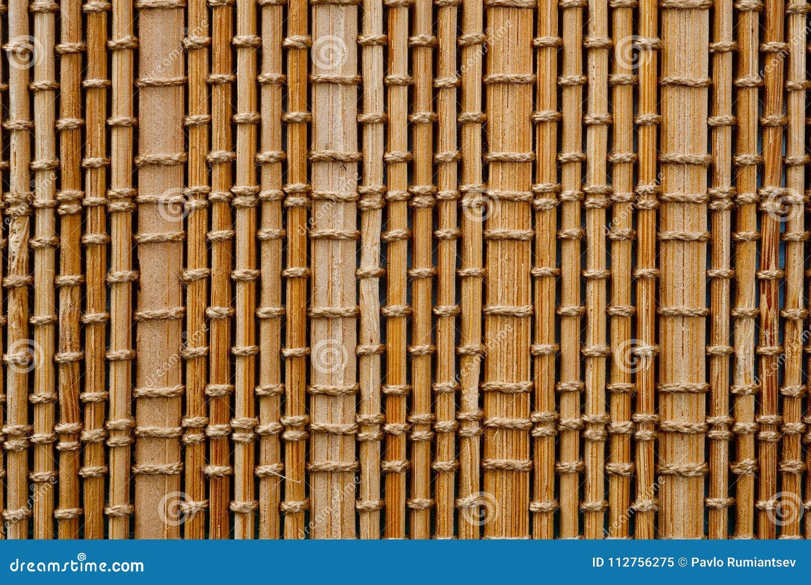 La Textura De La Estera De Bambú De La Sombra Ligera Que Llena El ...