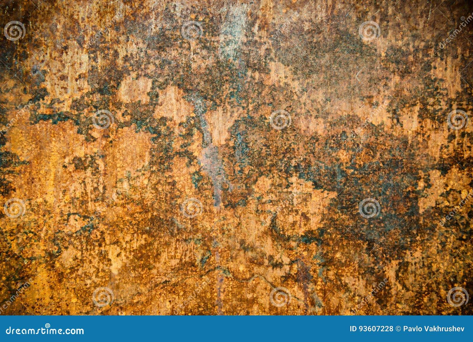 La textura del moho en el metal aherrumbró superficie