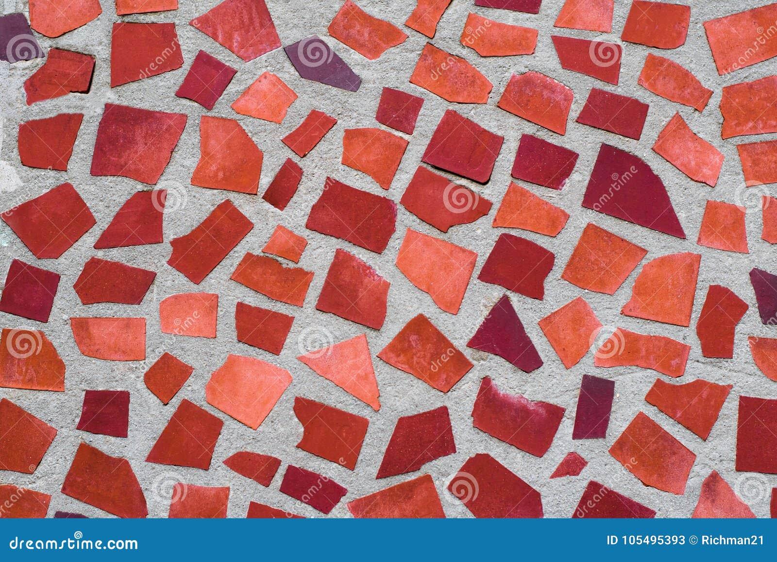 La Textura Del Ornamento Decorativo De La Pared Del Mosaico