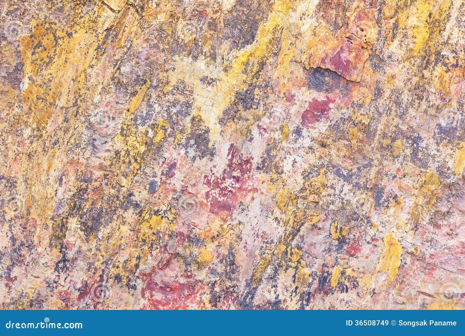 La texture de la pierre est des couleurs de modèle mélangée