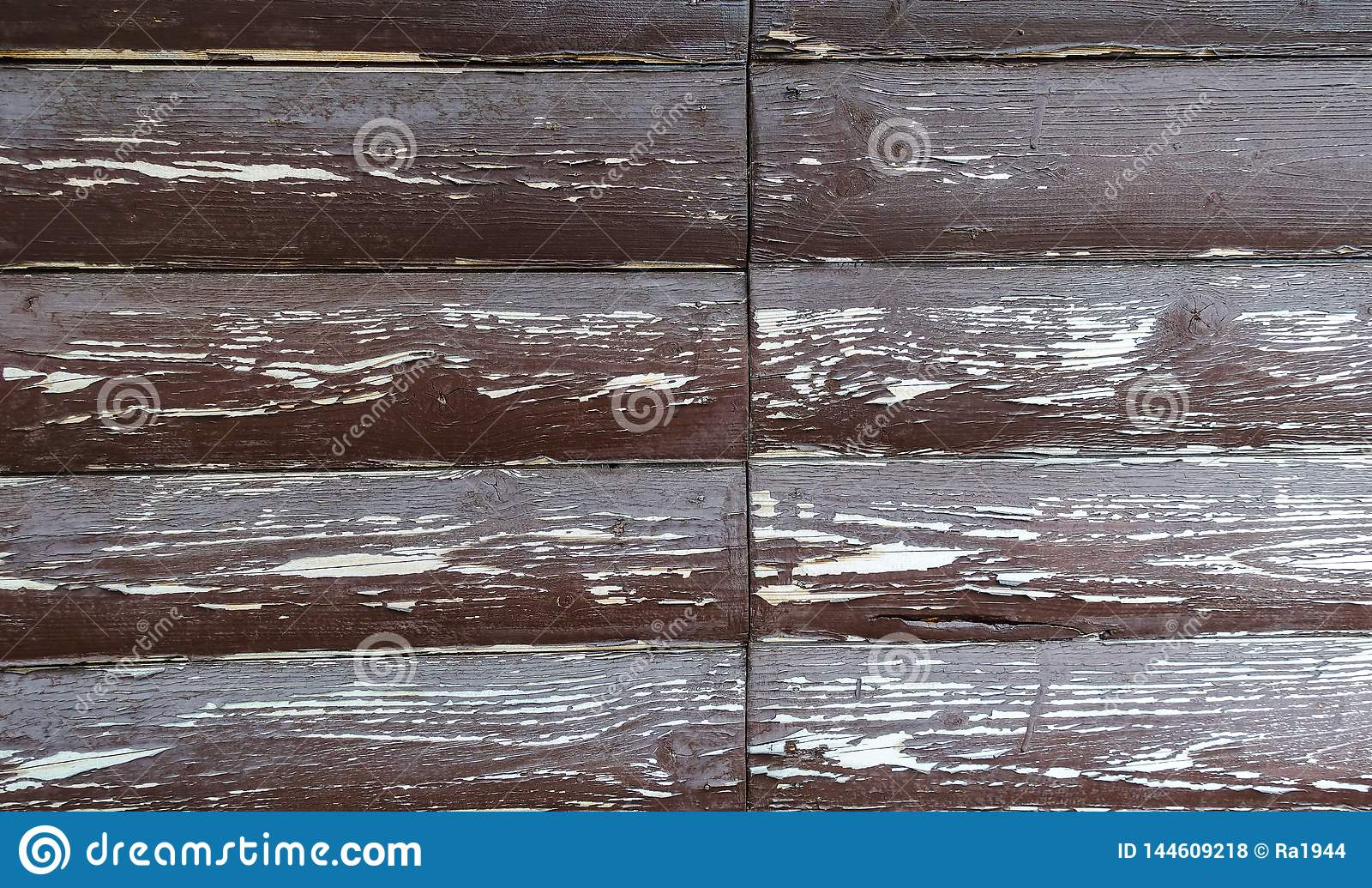 La texture du conseil avec ?plucher la peinture Fond abstrait pour la conception Brown avec les conseils arrondis blancs Panneau