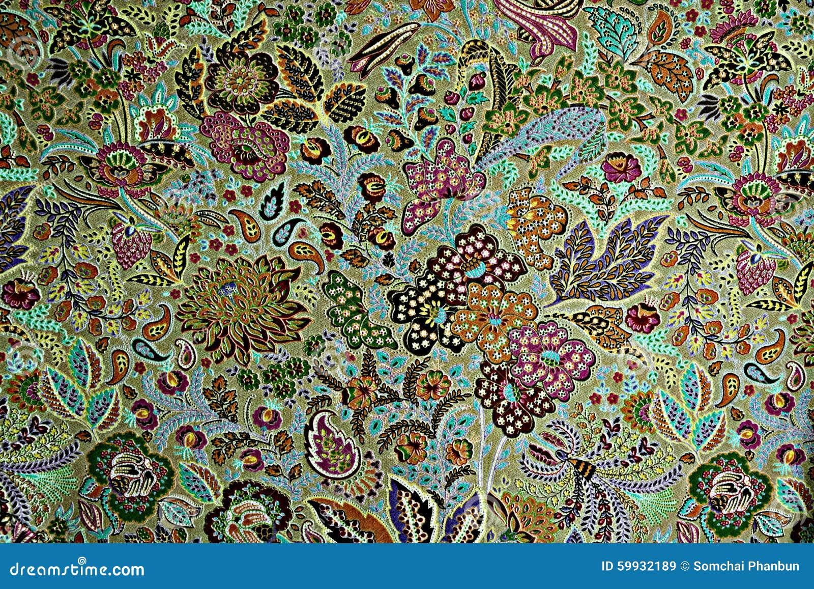 la texture du tissu d 39 impression barre les fleurs. Black Bedroom Furniture Sets. Home Design Ideas