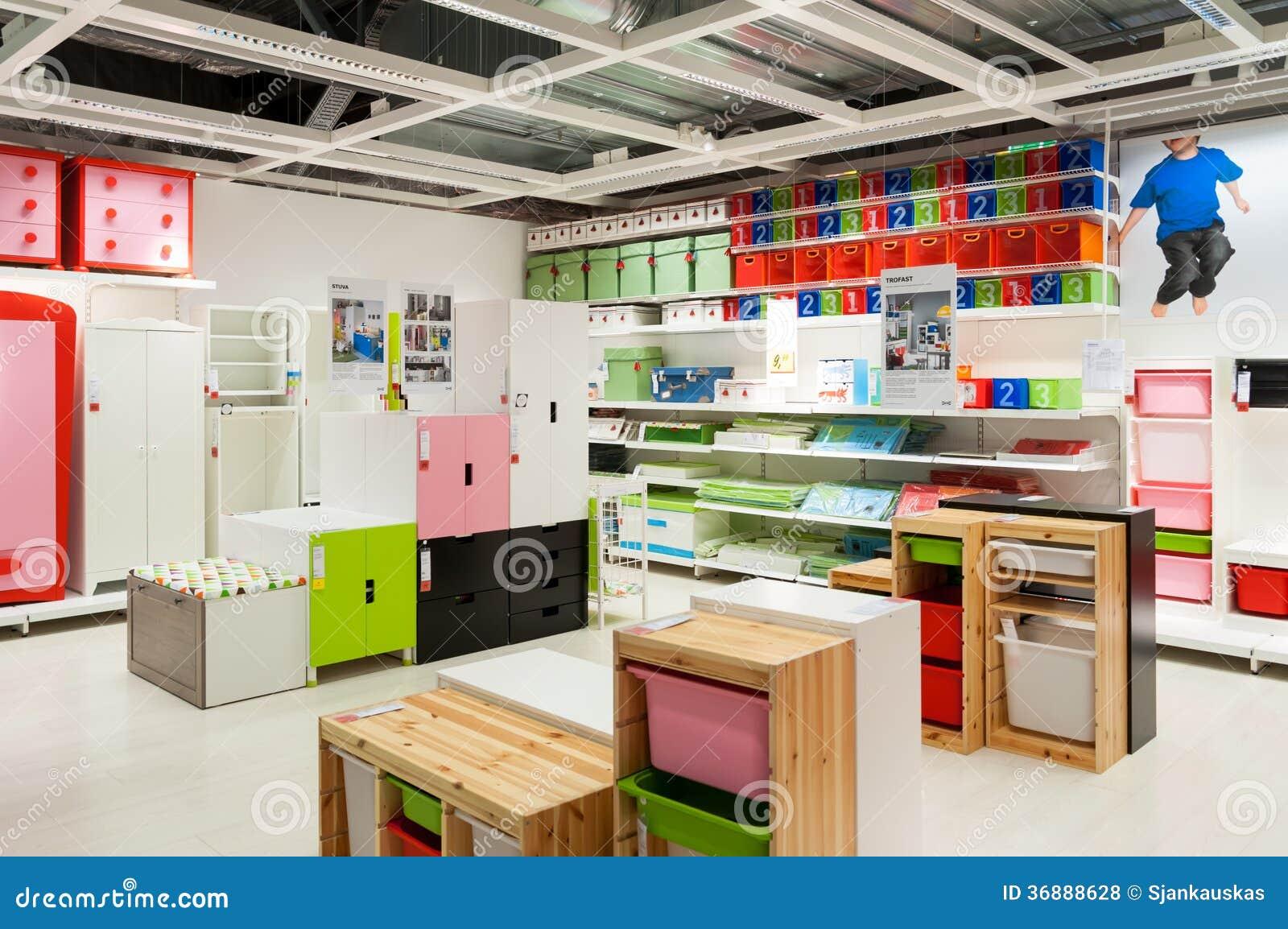 La tienda de muebles de Ikea embroma zona Foto de archivo editorial