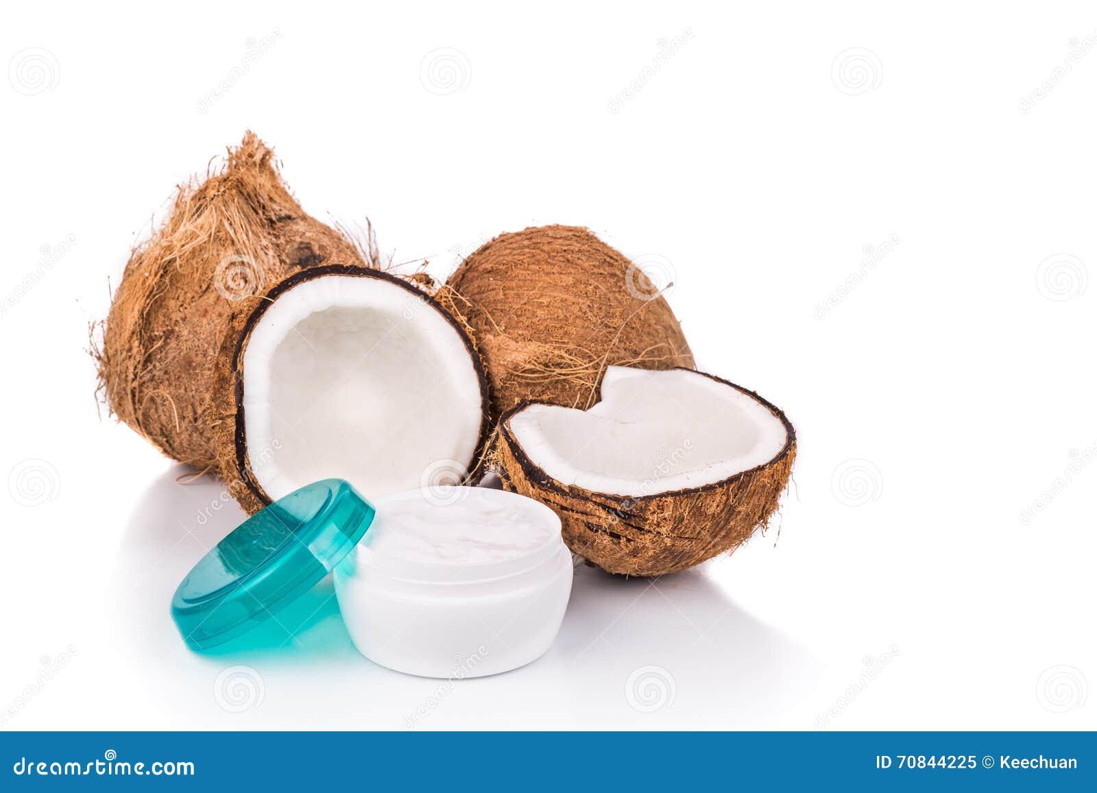 La Tina Que Contiene El Aceite De Coco Se Utiliza Como Crema