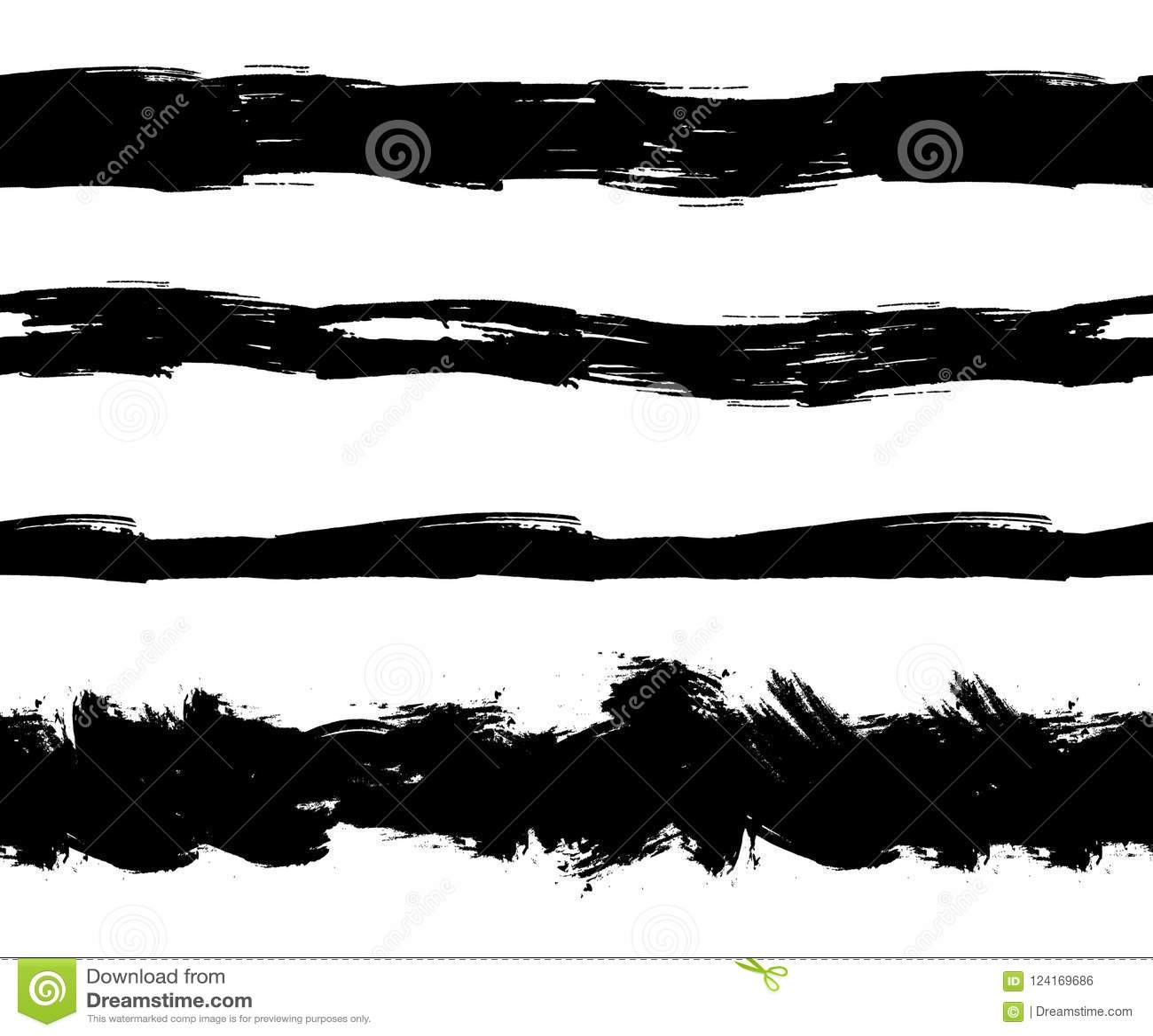 La tinta plana del vector salpica las rayas inconsútiles, líneas del Grunge fijadas aisladas