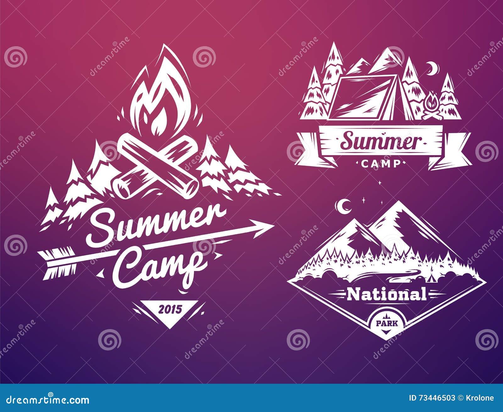 La Tipografía Del Campamento De Verano Y Del Parque Nacional Diseña