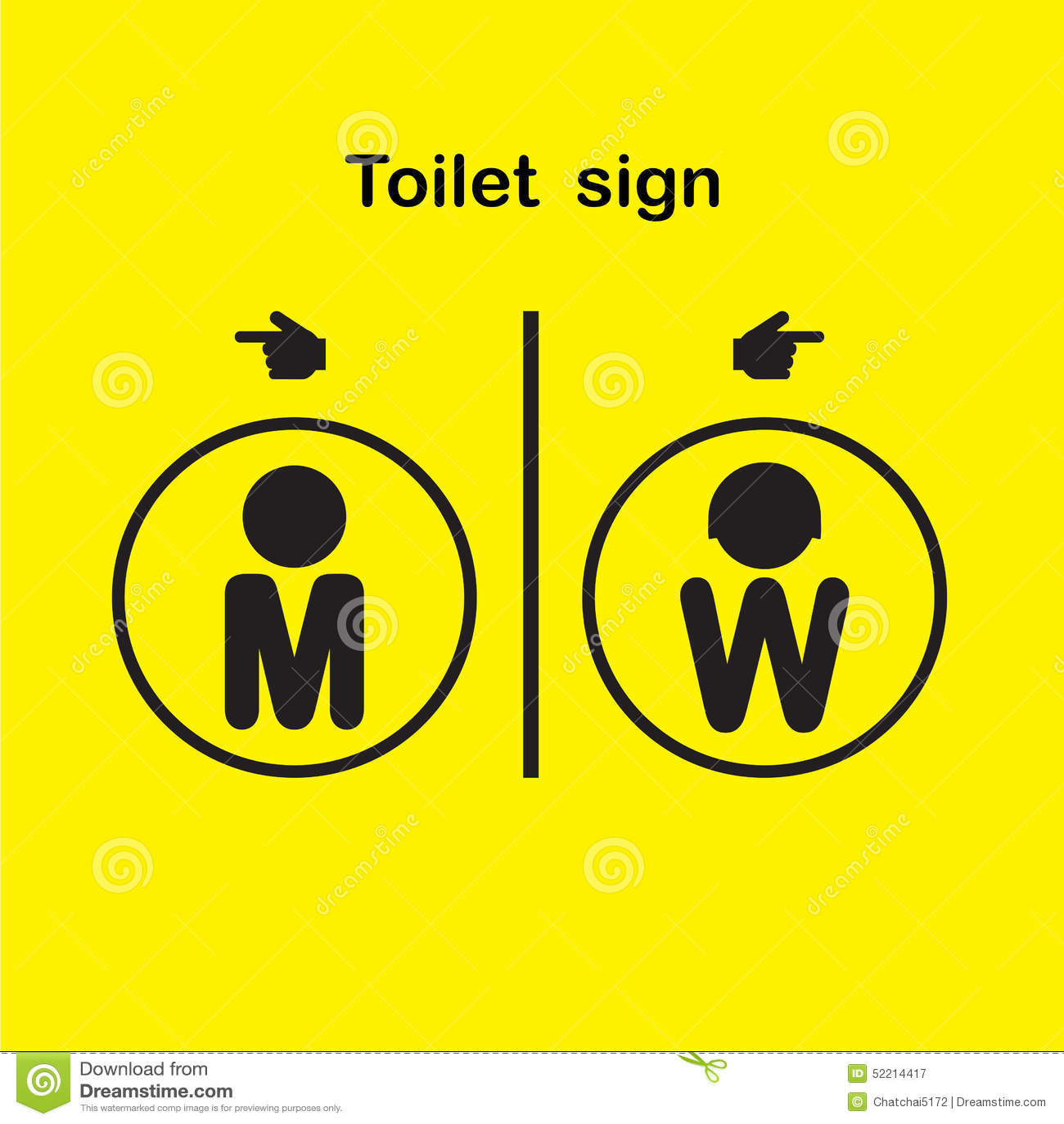 La Toilette Dhomme Et De Femme Signent Symbole De Toilettes