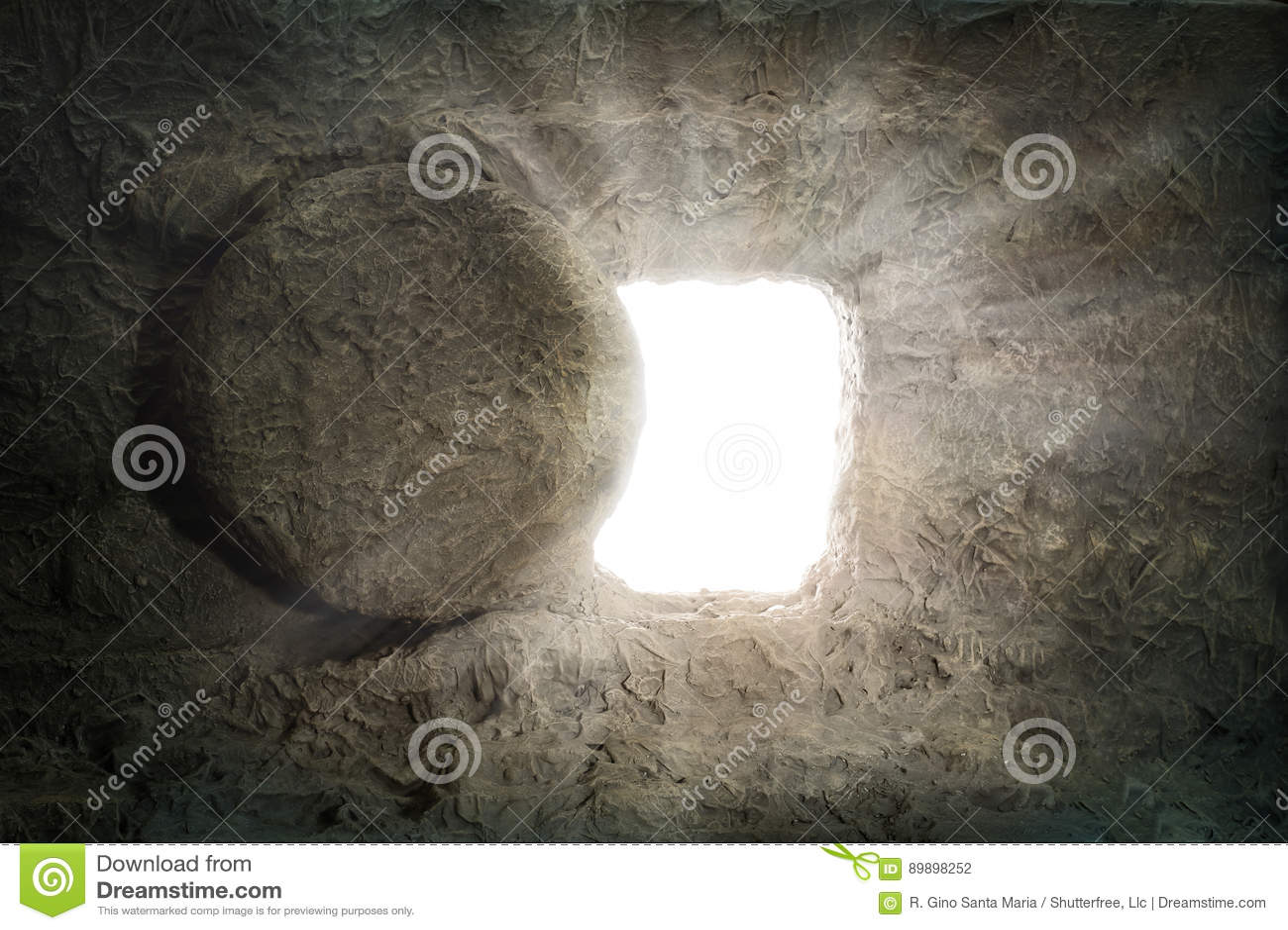 La tomba di Jesus With Light Coming dall interno