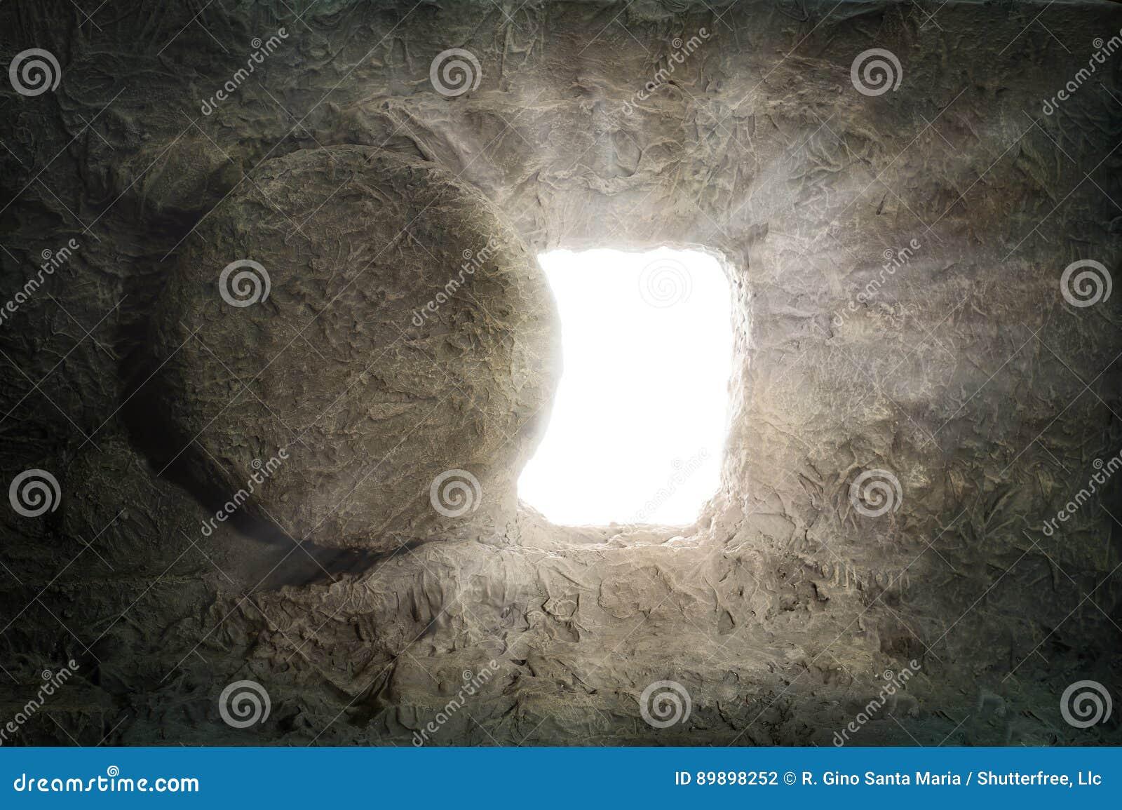 La tombe de Jesus With Light Coming de l intérieur