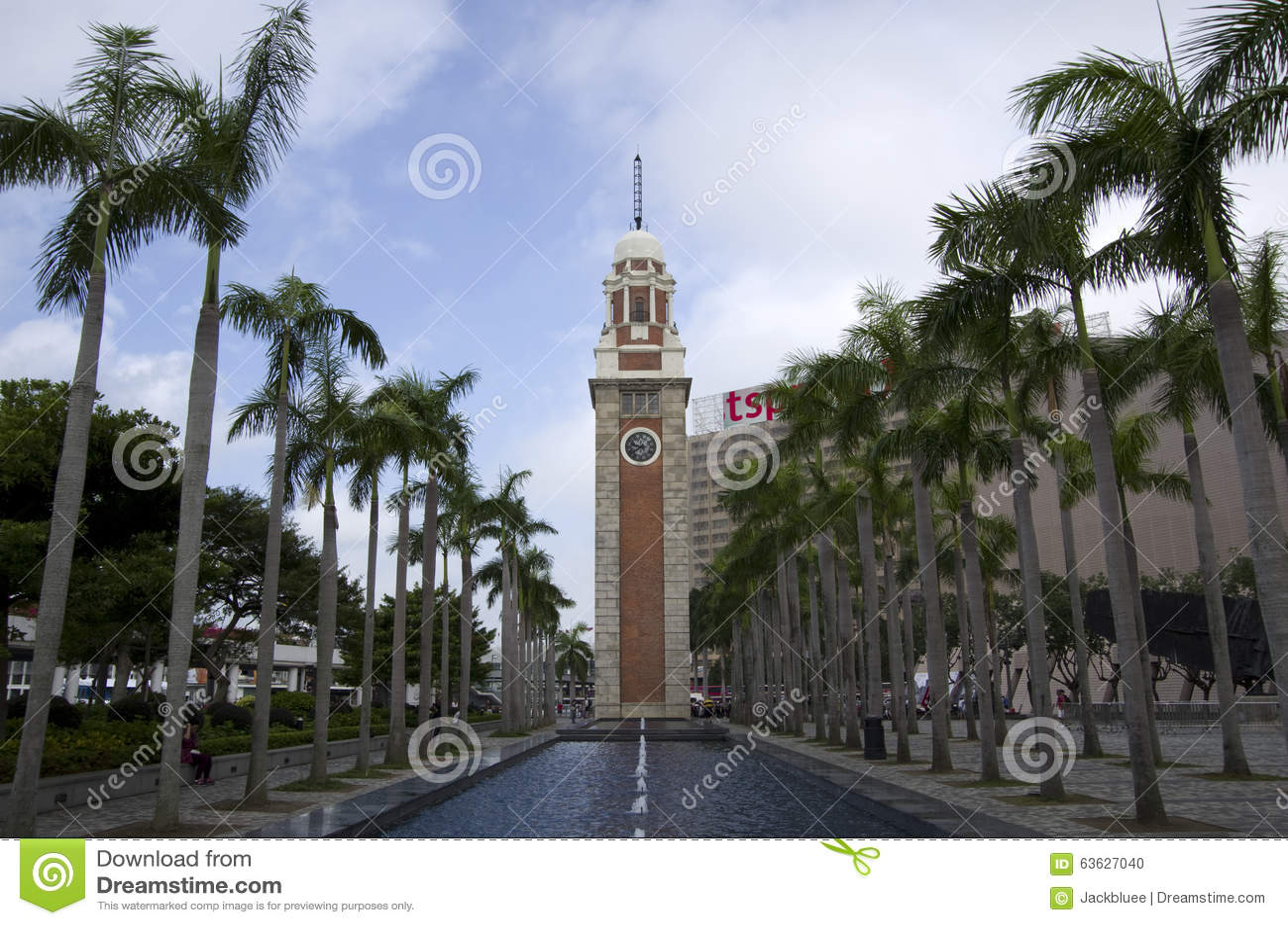 La torre de reloj Hong Kong