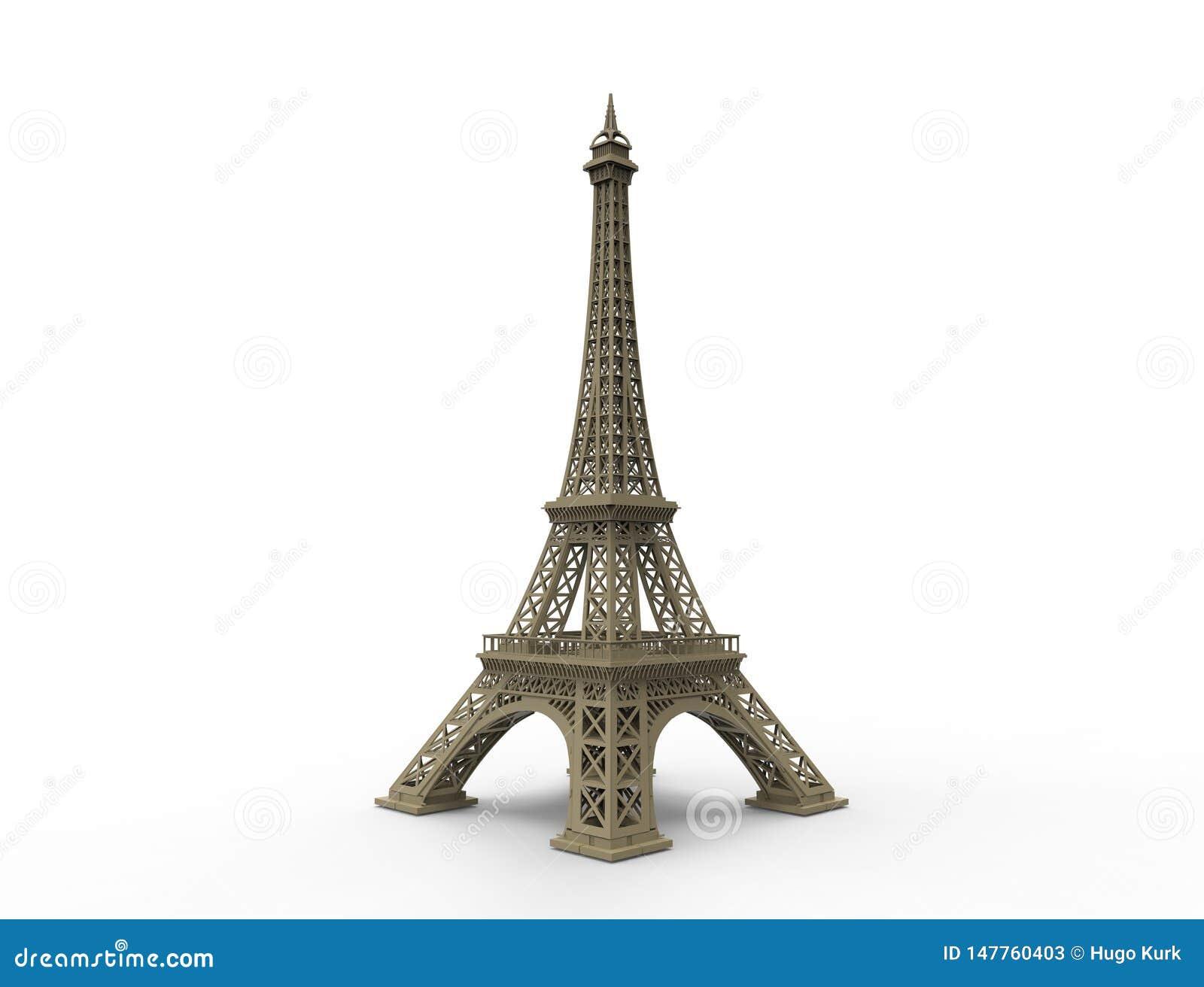 La torre Eiffel a Parigi Francia ha isolato