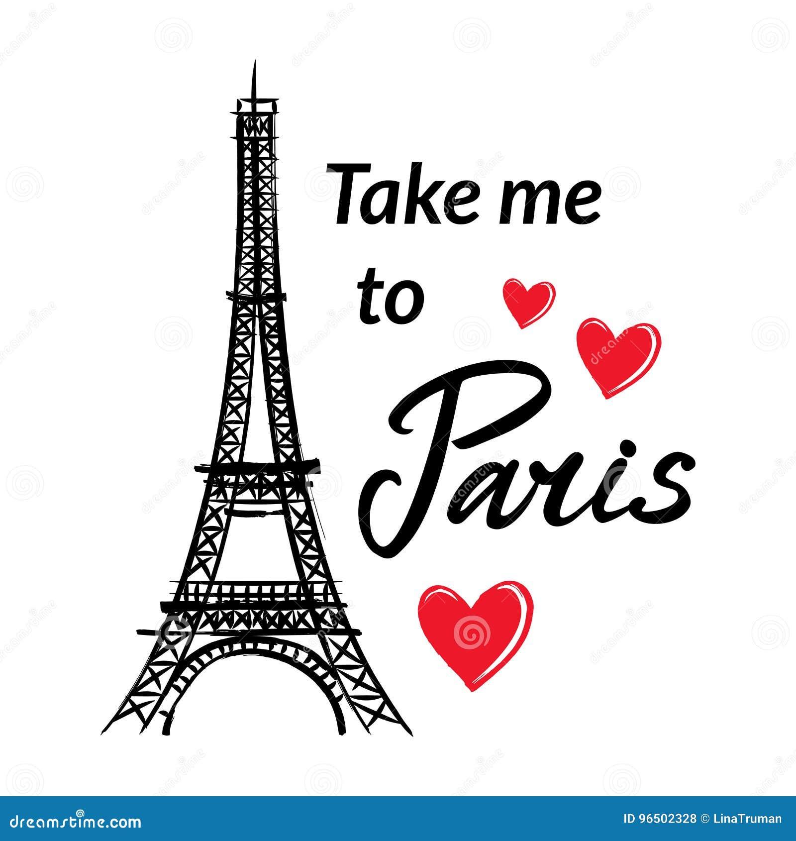 La Torre Los Corazones Y La Frase De Francia Eiffel Del